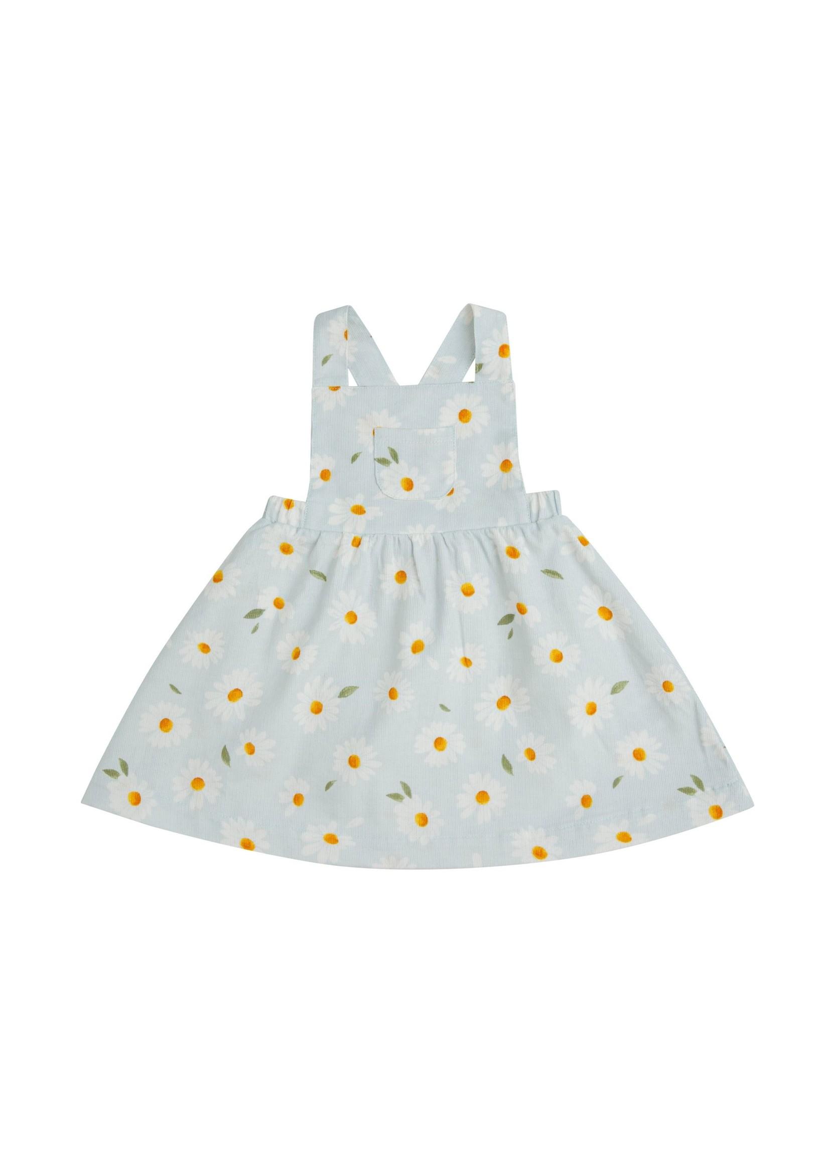 Angel Dear Daisy Corduroy Overall Dress Grey