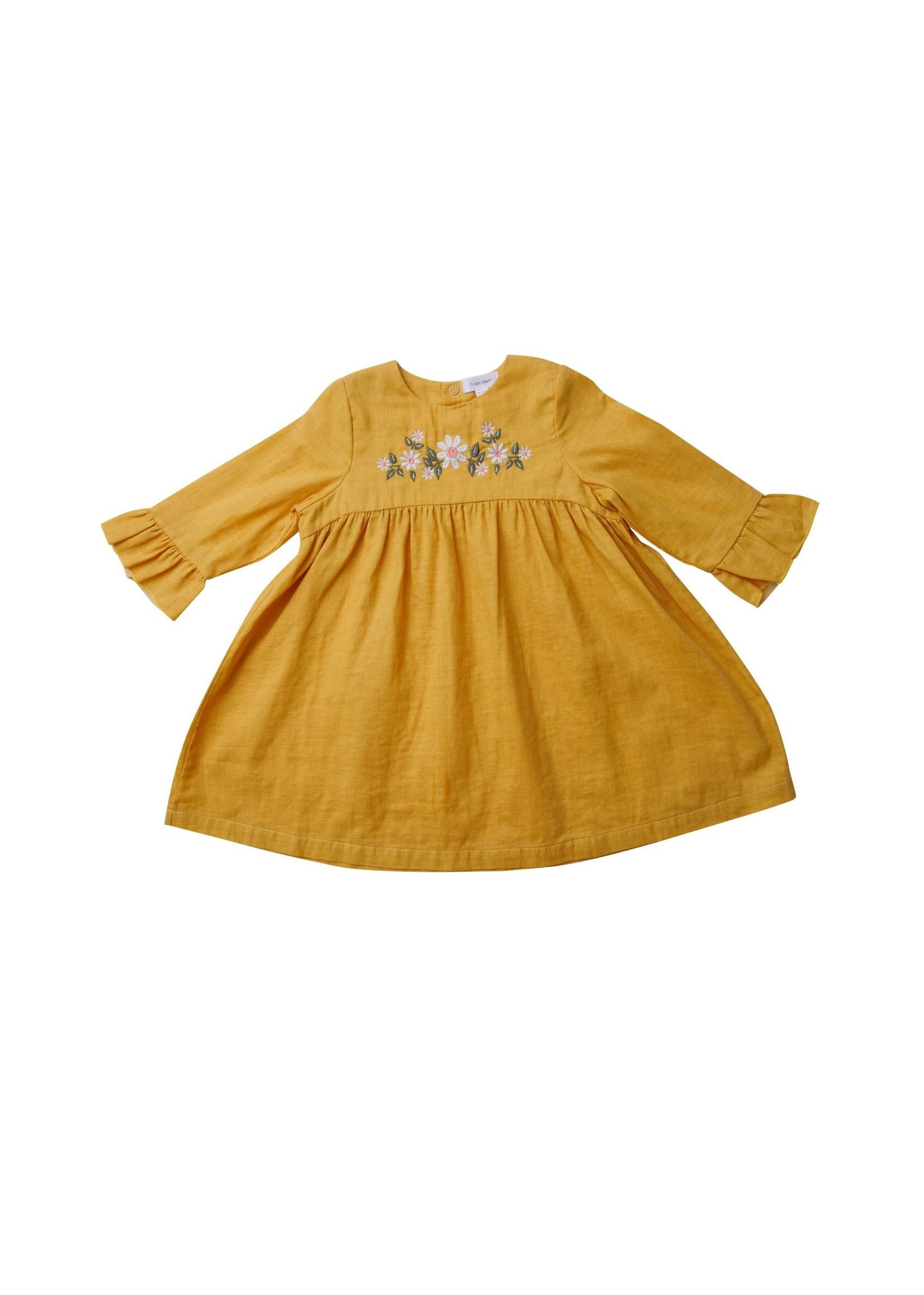 Angel Dear Honey Bell Sleeve Dress w/ Legg Green