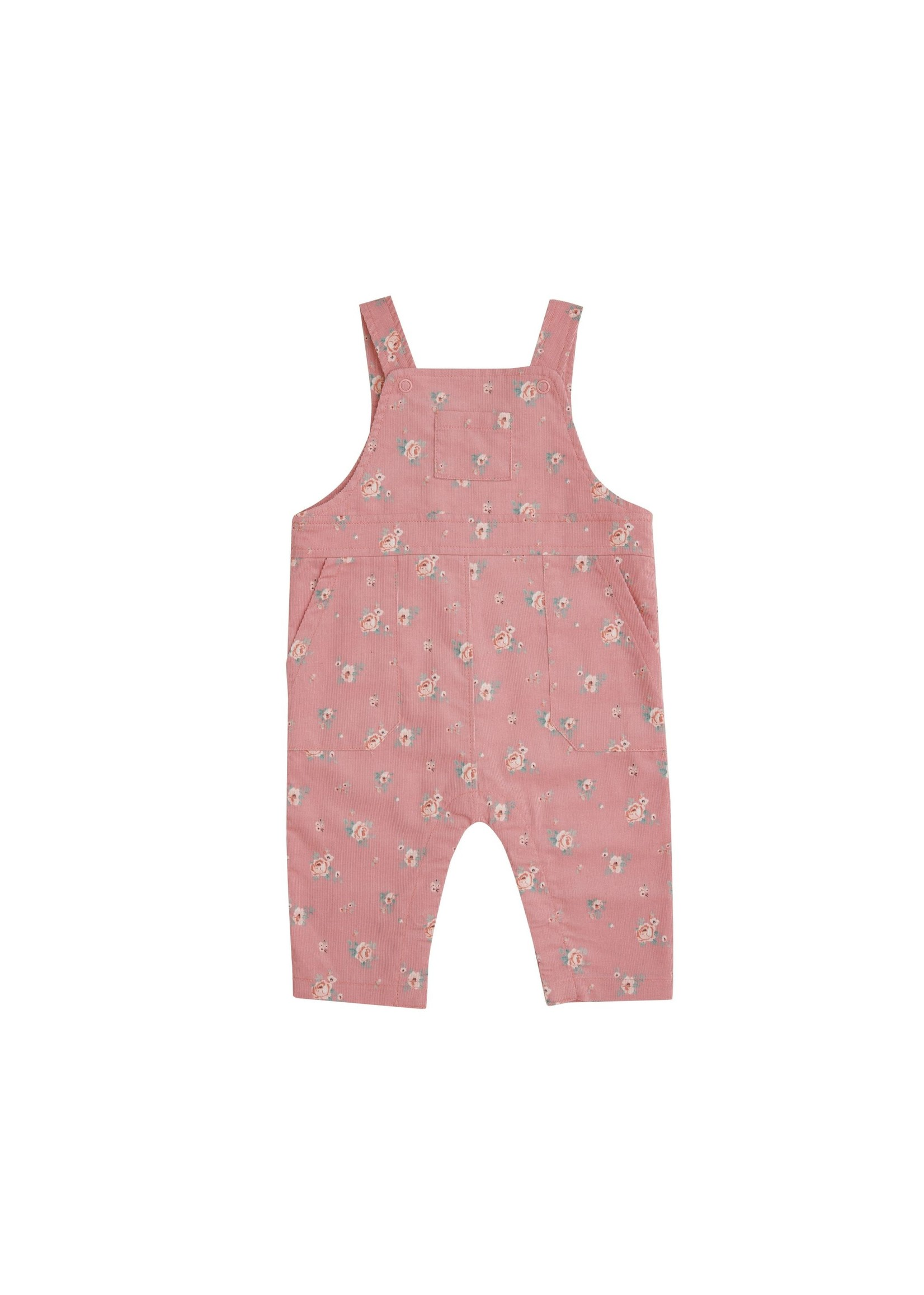 Angel Dear Mini Rose Corduroy Overalls Pink