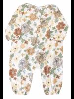 Angel Dear Chrysanthemum Romper Brown