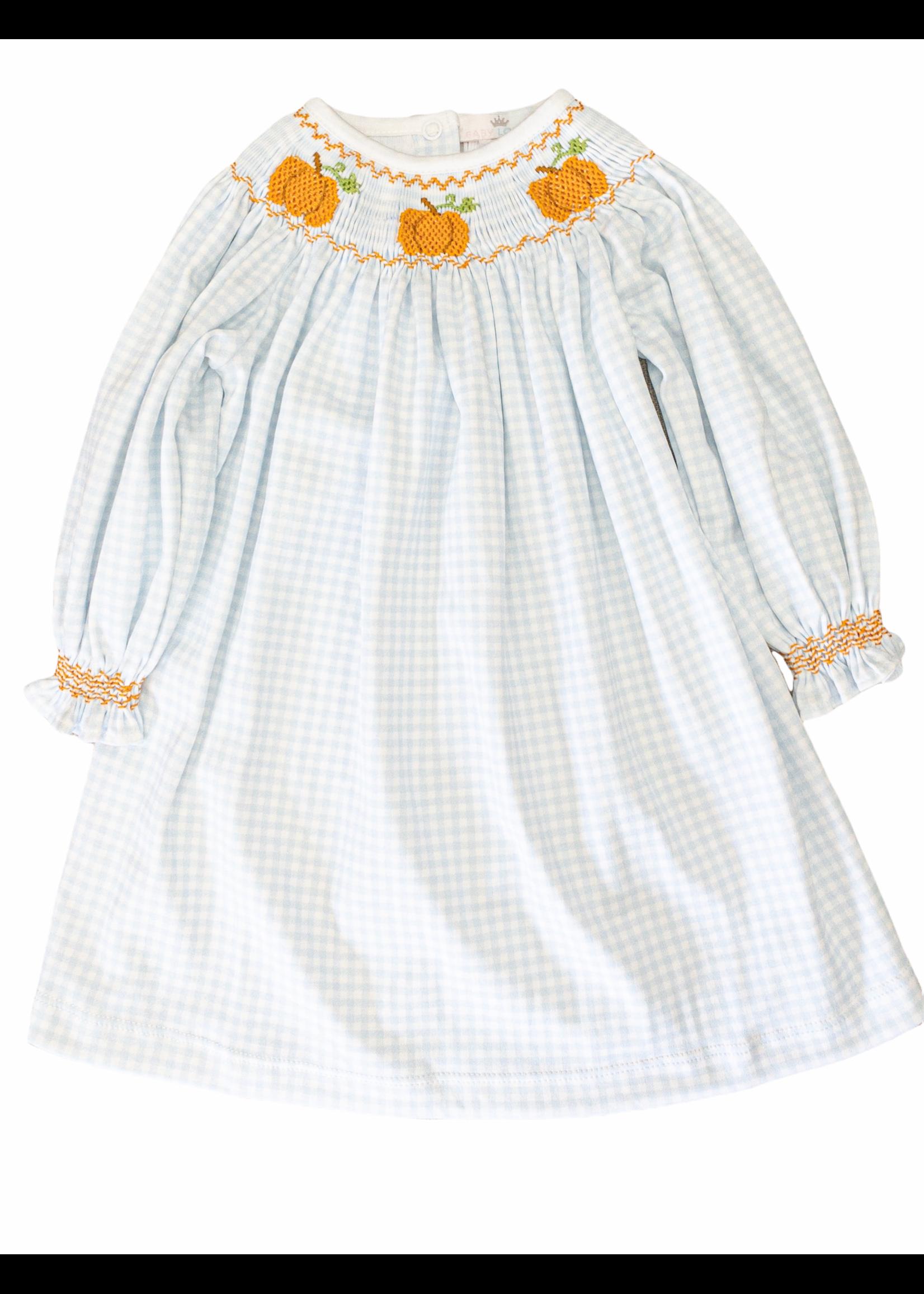 Baby Loren Pumpkin Patch Smocked Dress