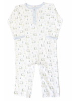 Baby Loren Blue Golf Pima Romper