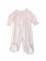Baby Loren Sussie Pink Gingham Bishop Dress