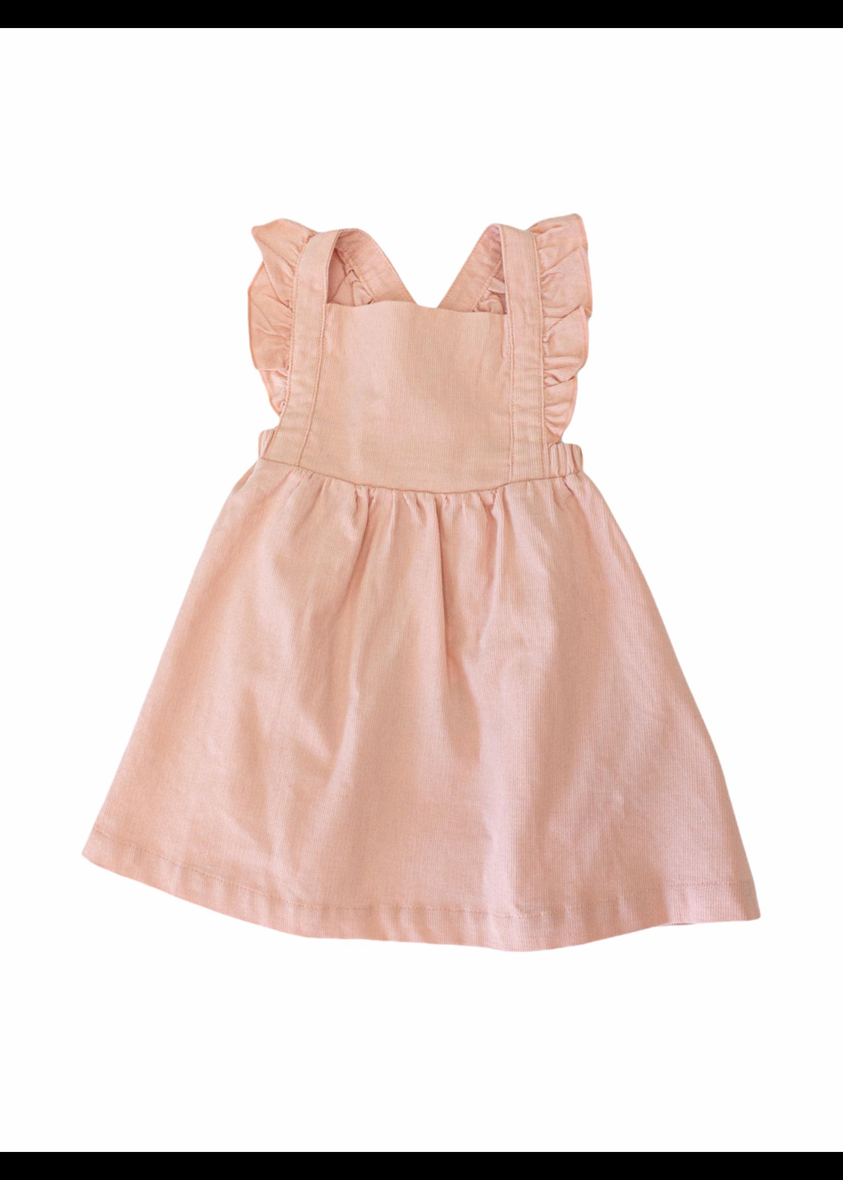 Angel Dear Pink Corduroy Pinafore Dress