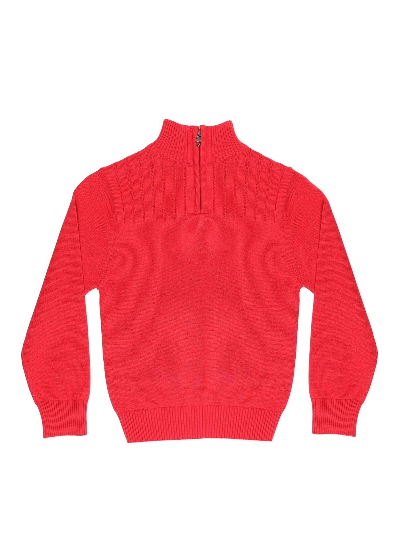 Pedal Pedal red quarter zip sweater