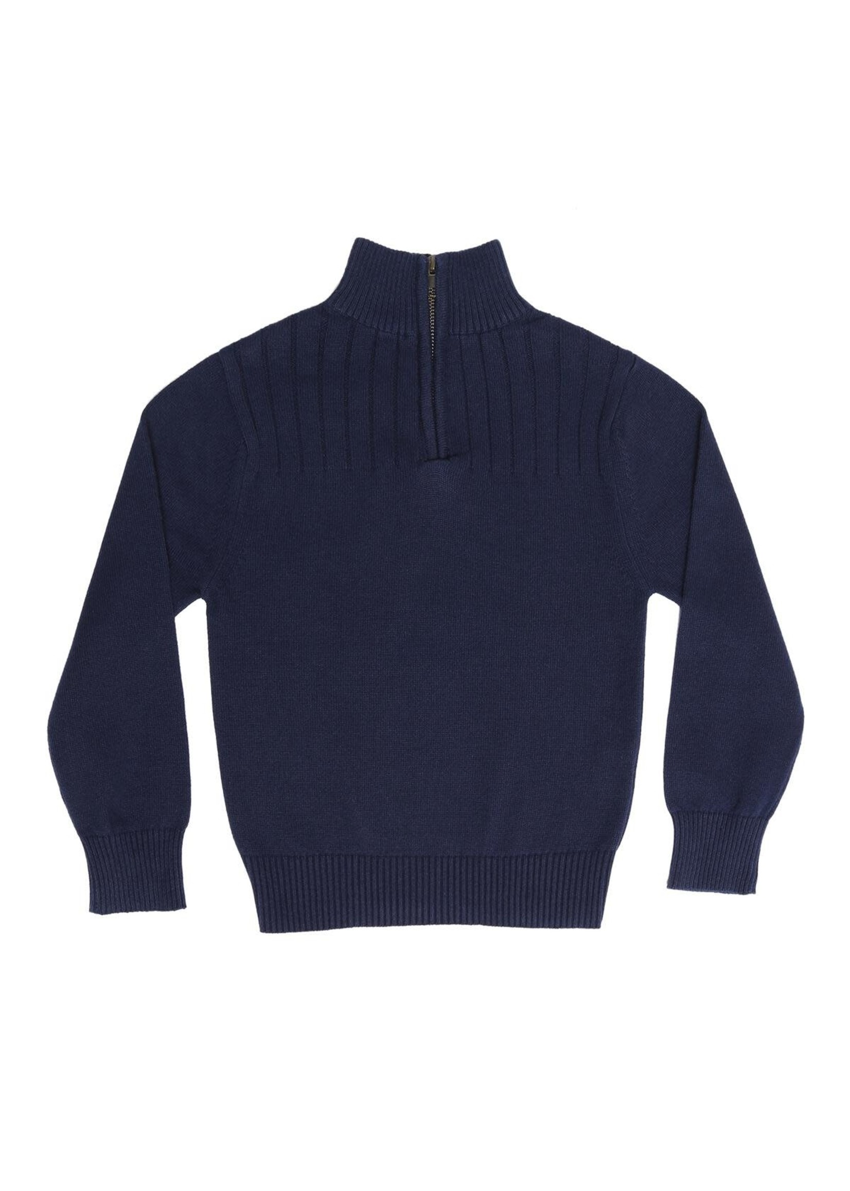 Pedal Pedal navy quarter zip sweater