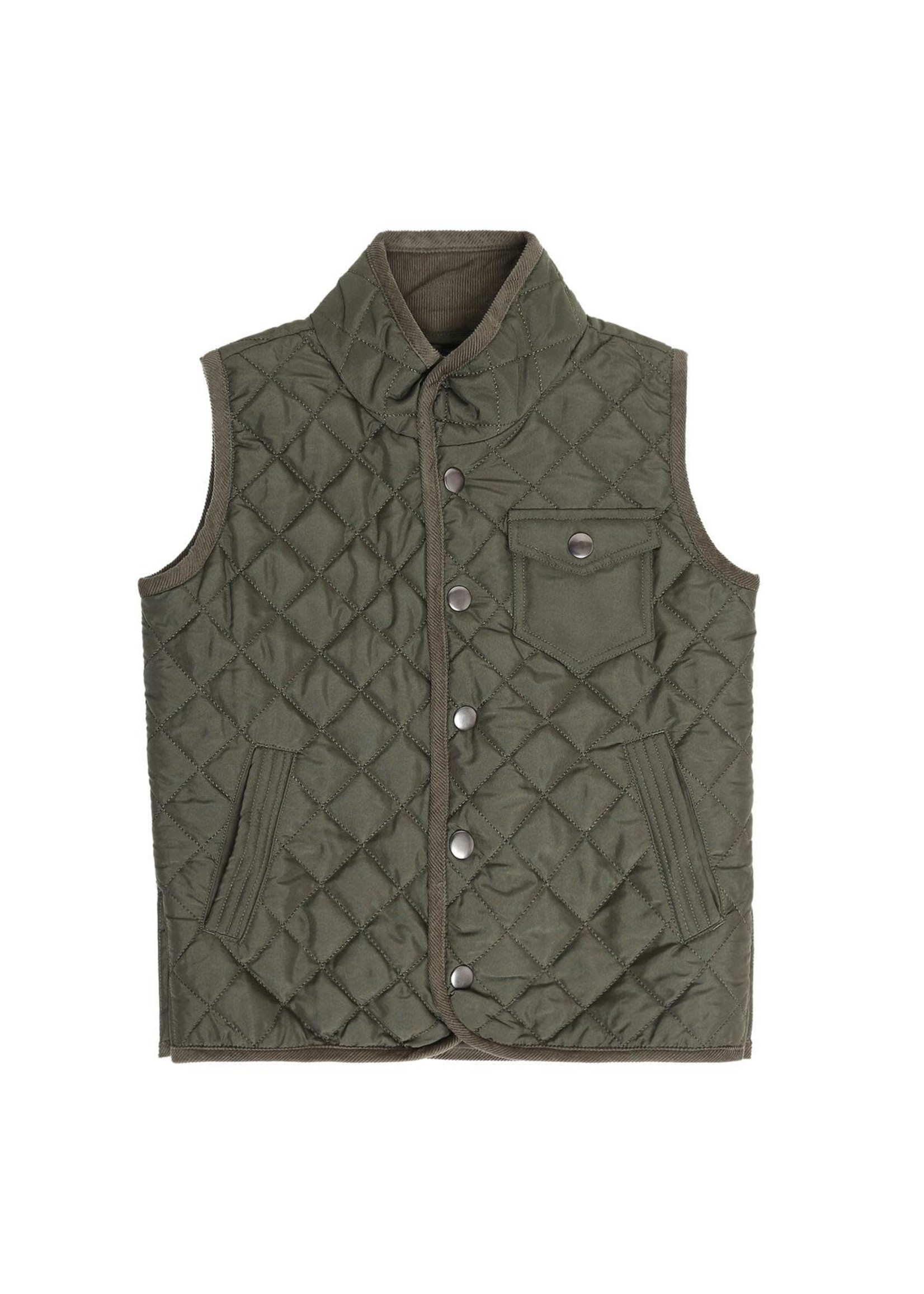 Pedal Pedal Olive Quilted Vest