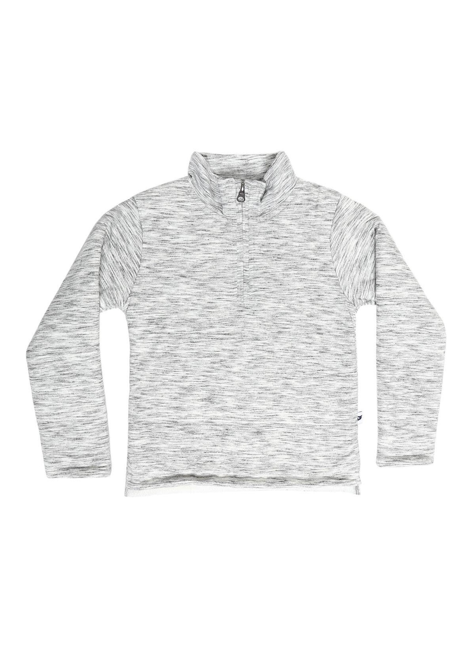 Pedal Pedal Grey Quarter Zip Sherpa Pullover