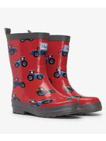 Hatley Farm Tractor Shiny Rain Boots