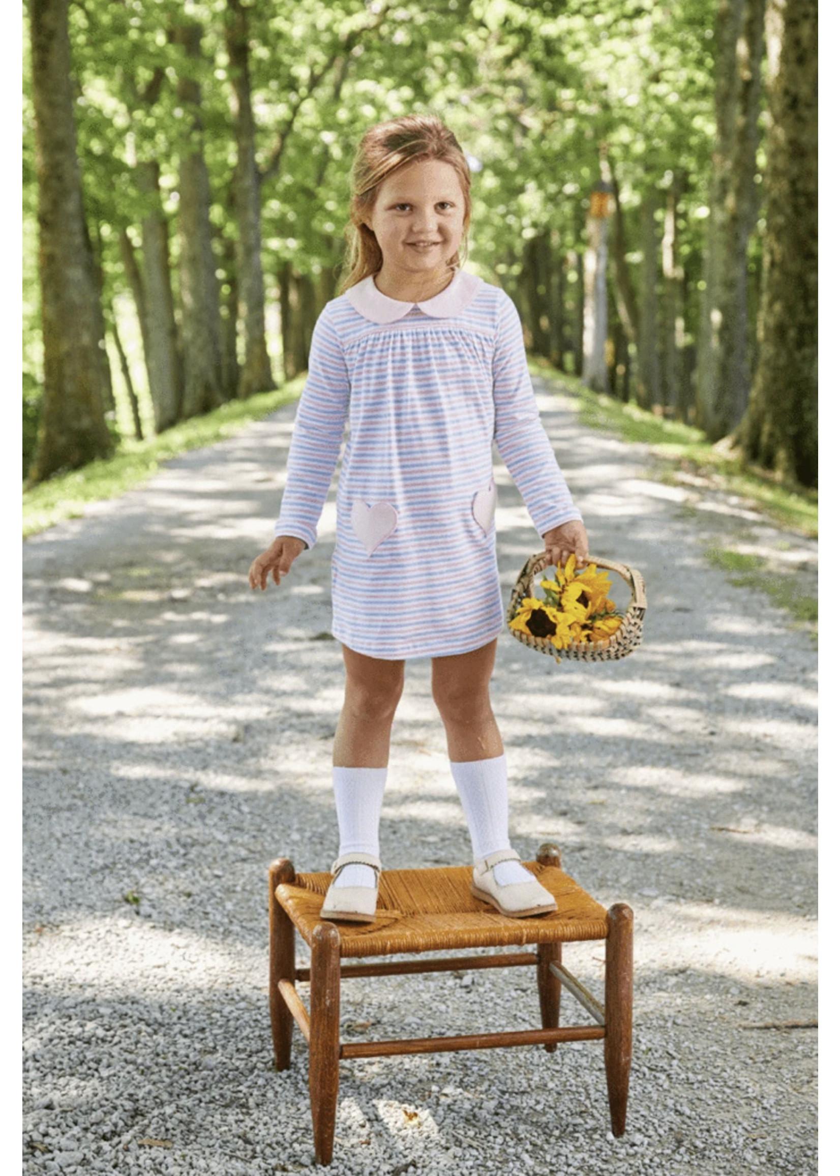 Little English Breton Hearts Dress