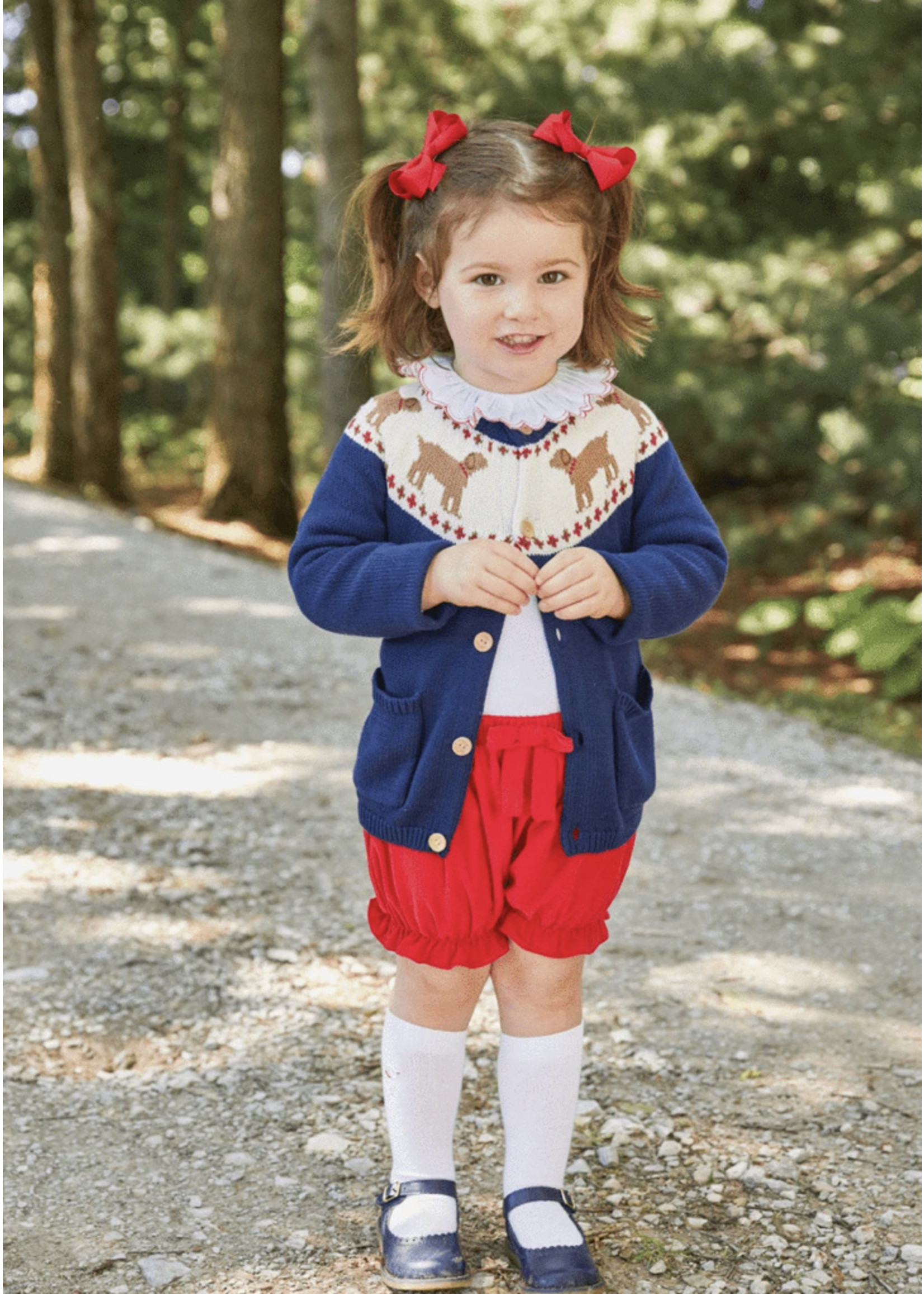 Little English Cord Bow Bloomer