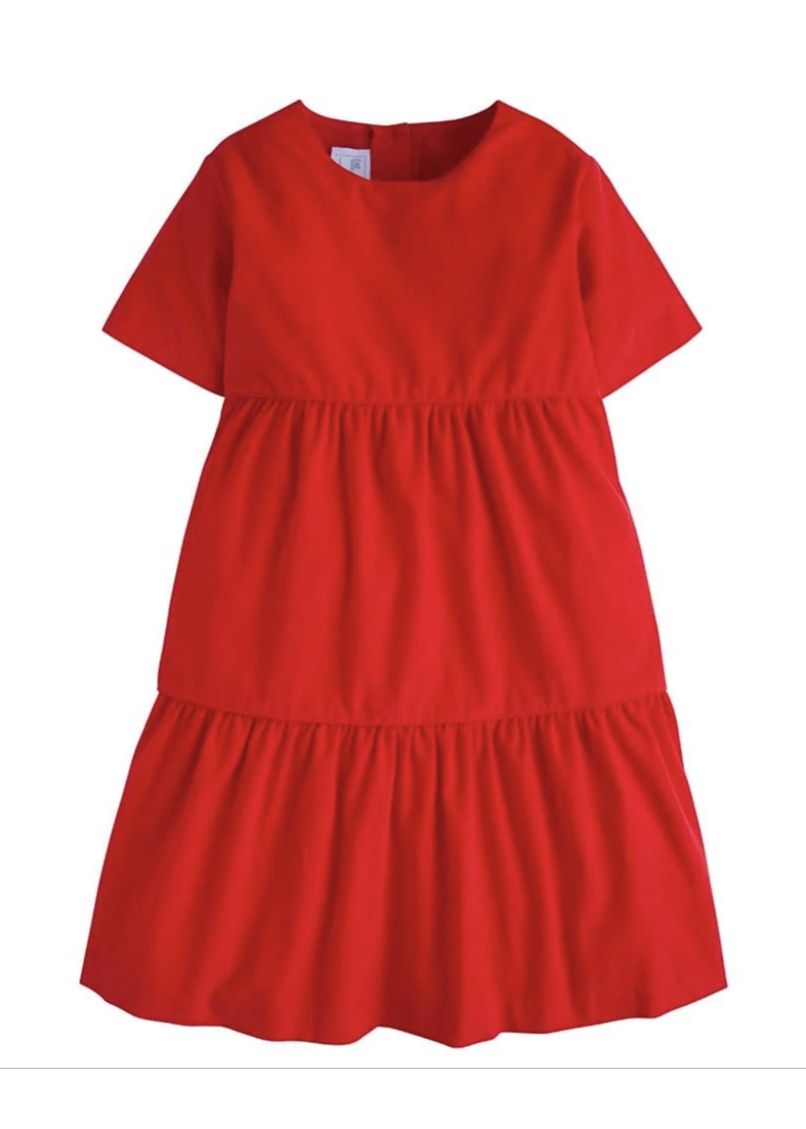 Little English Jillian Red Corduroy Dress