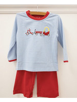 Trotter Street Kids Riding Trio Embroidery L/S Pants Set