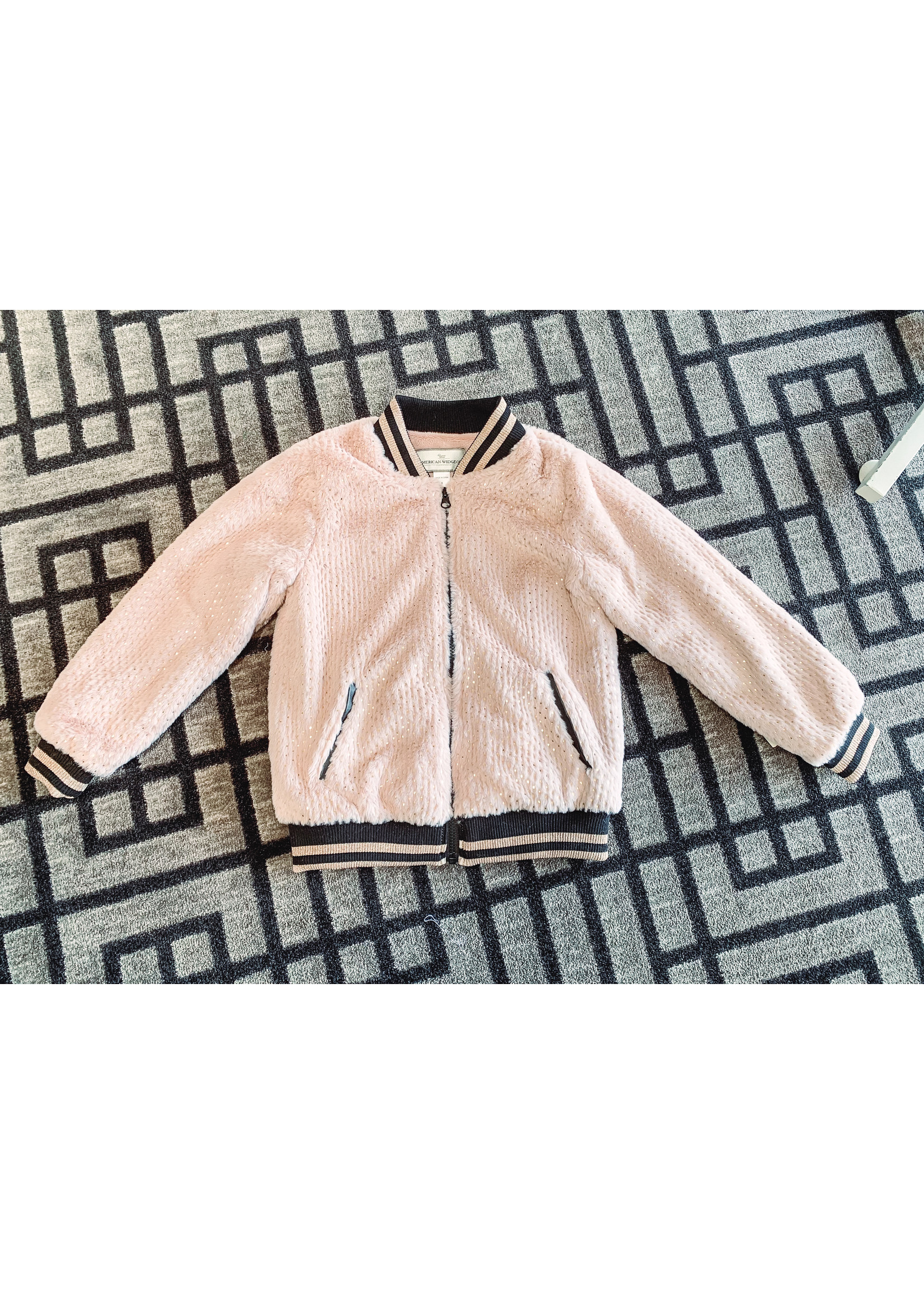 Widgeon Varsity Jacket Rose Gold Foil
