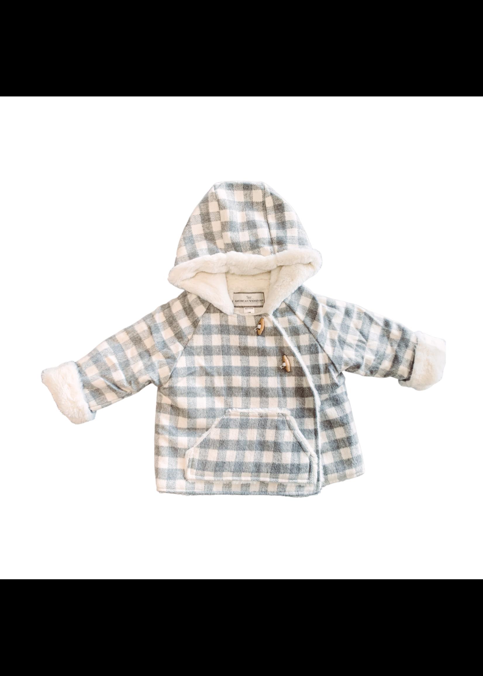Widgeon Wrap Jacket Grey Plaid