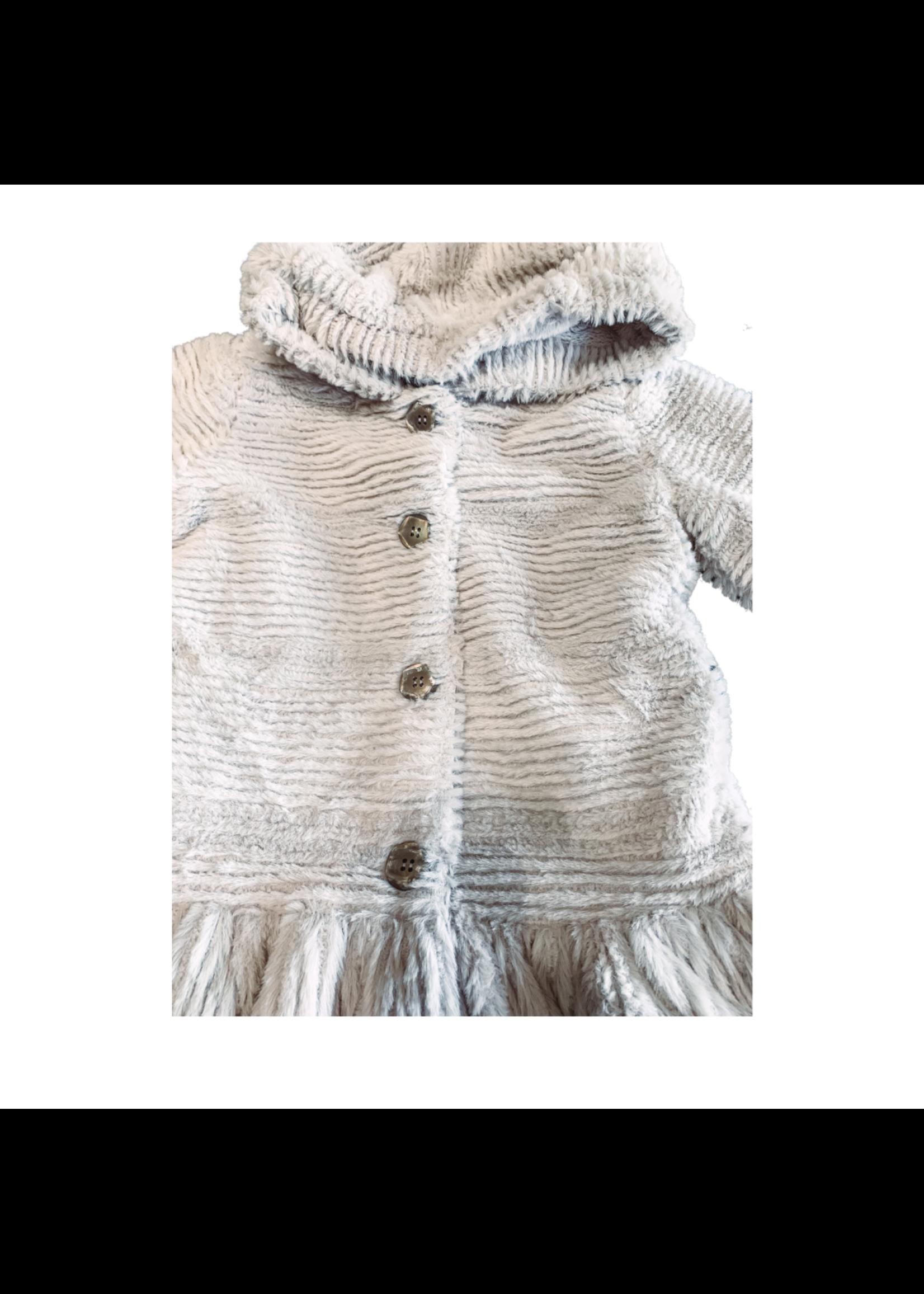 Widgeon Drop Waist Grey Ripple Coat