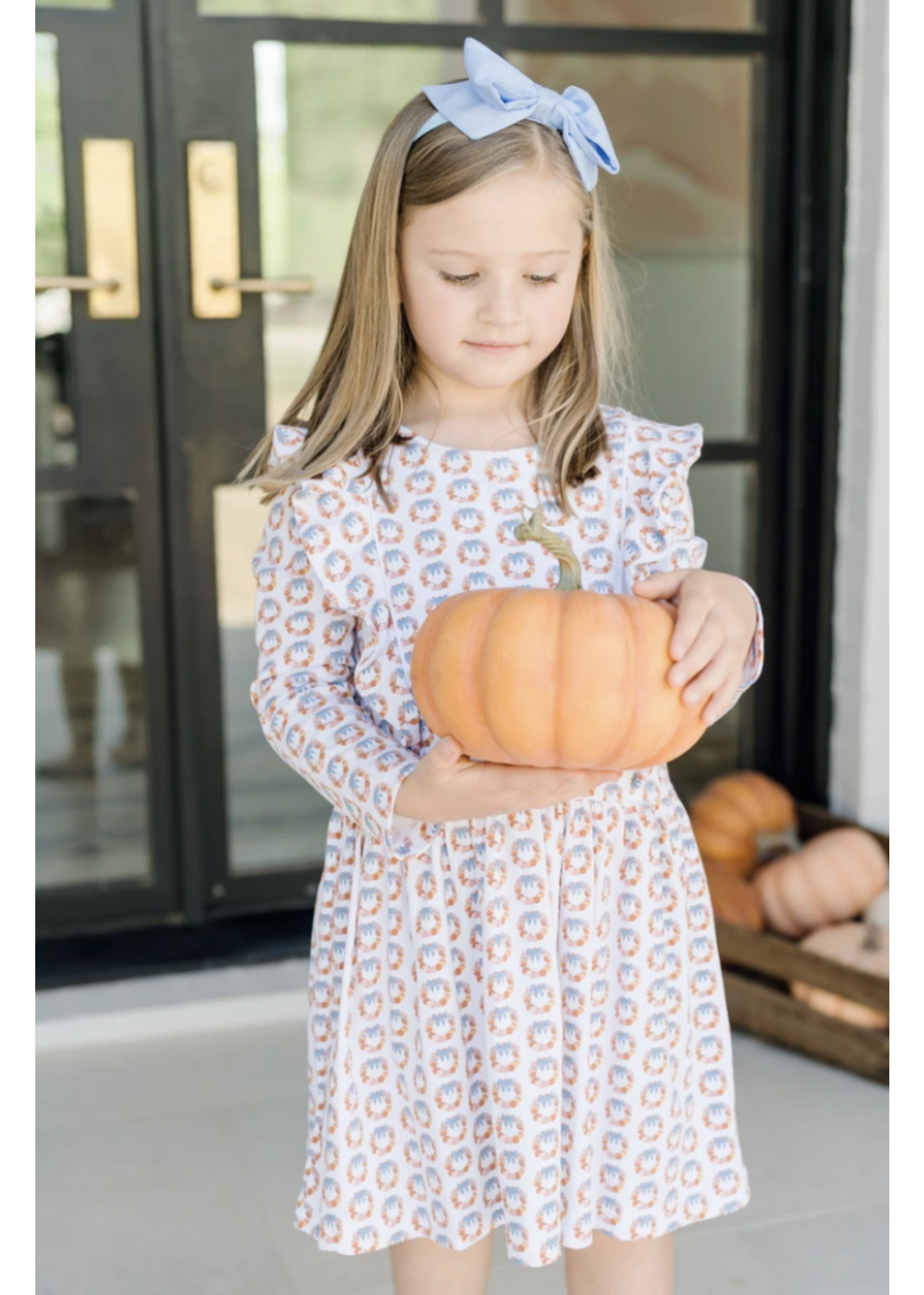 Lila & Hayes Olivia  Dress Pumpkin Wreath