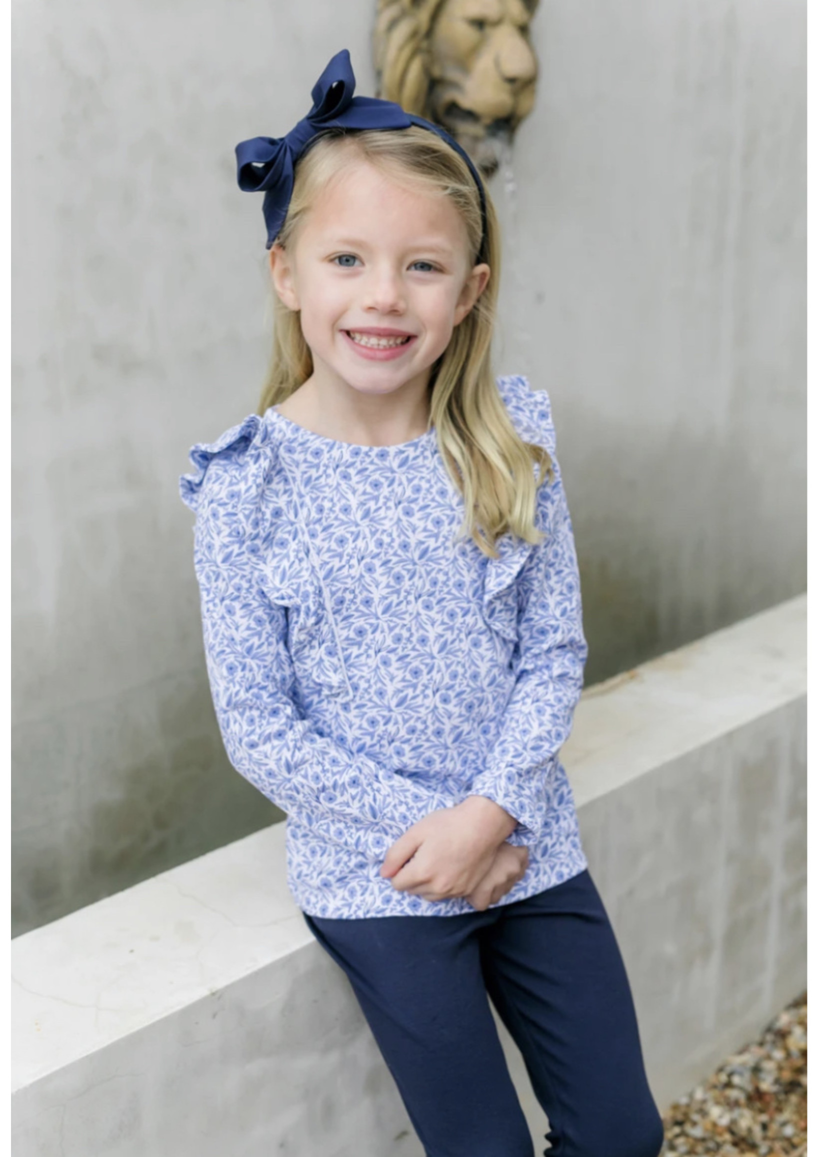 Lila & Hayes Olivia Legging Set Blue Blooms
