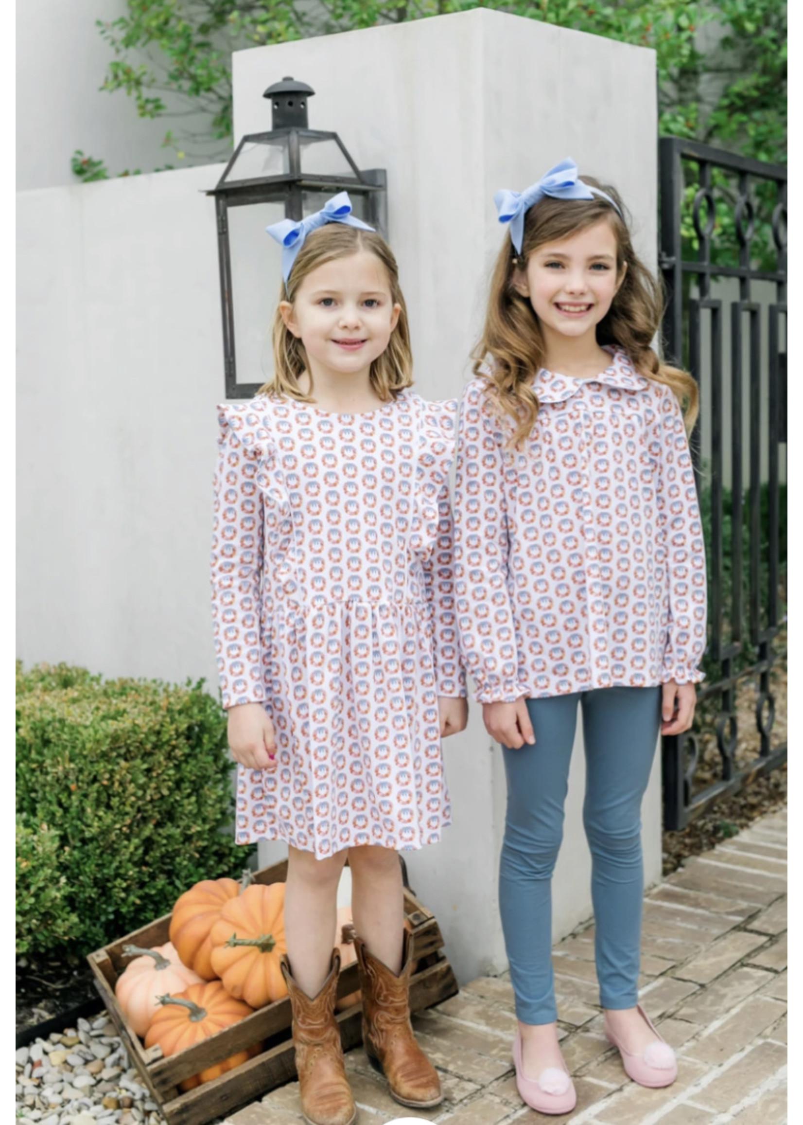 Lila & Hayes Morgan Legging Set Pumpkin Wreath