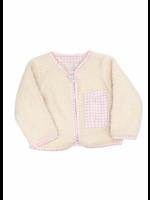 Sal and Pimenta Pink Gingham Fleece Jacket