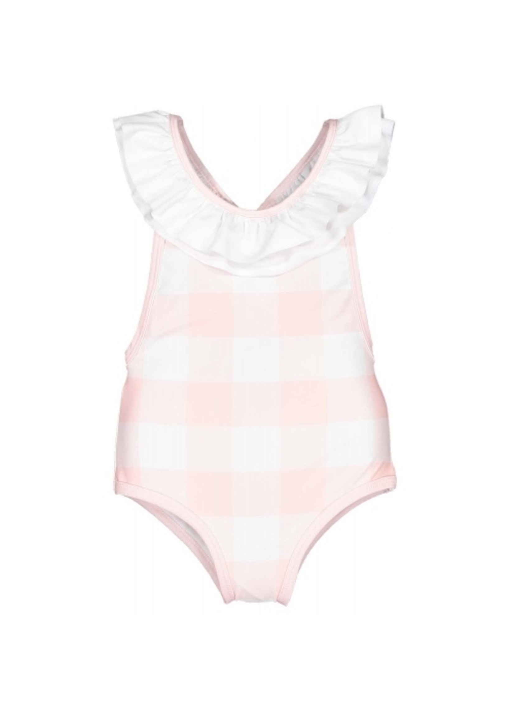 Sal and Pimenta Pink Buffalo Check Swimsuit