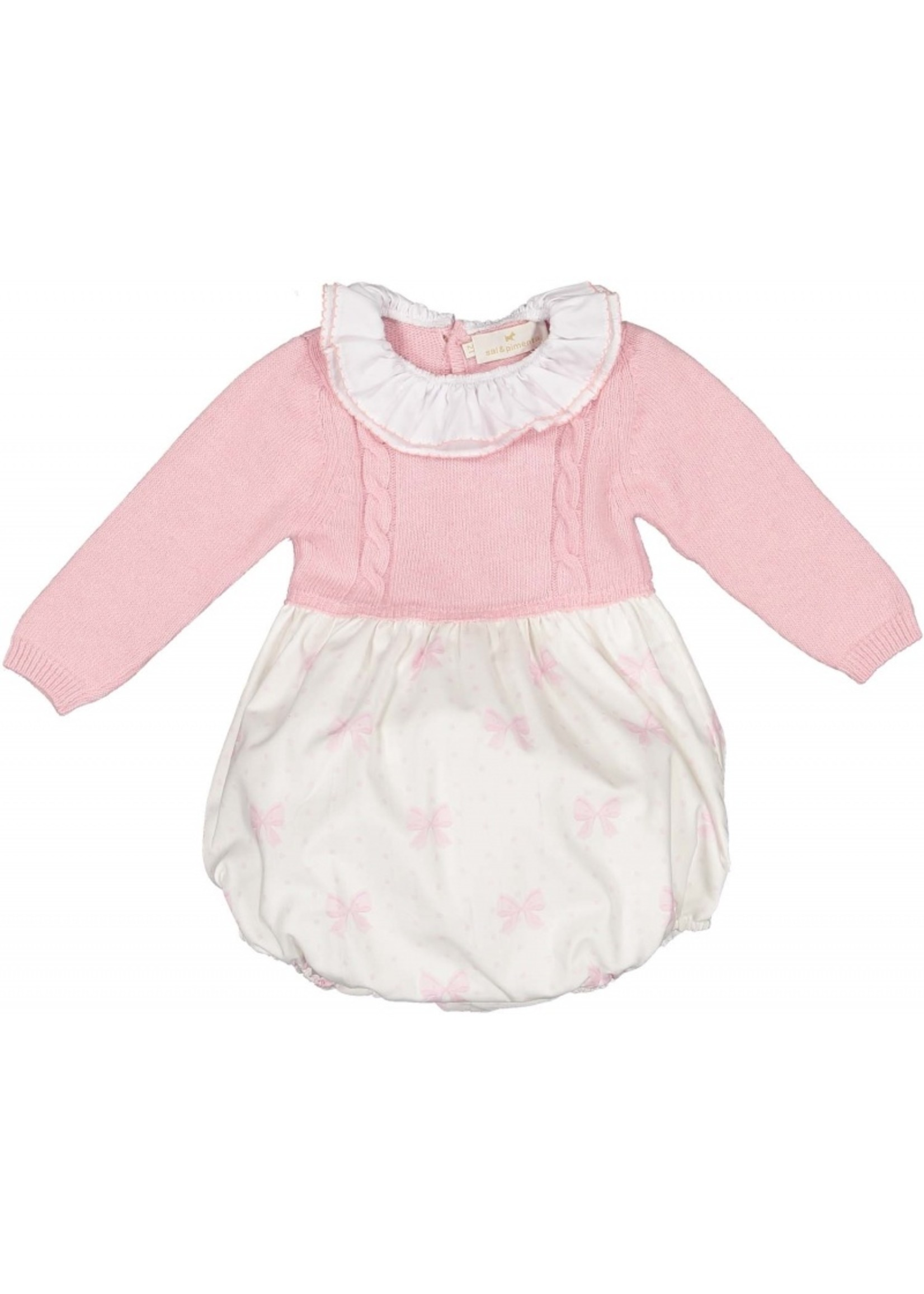 Sal and Pimenta Pink Bow Romper