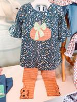 Natalie Grant Pumpkin Peasant  Dress Set