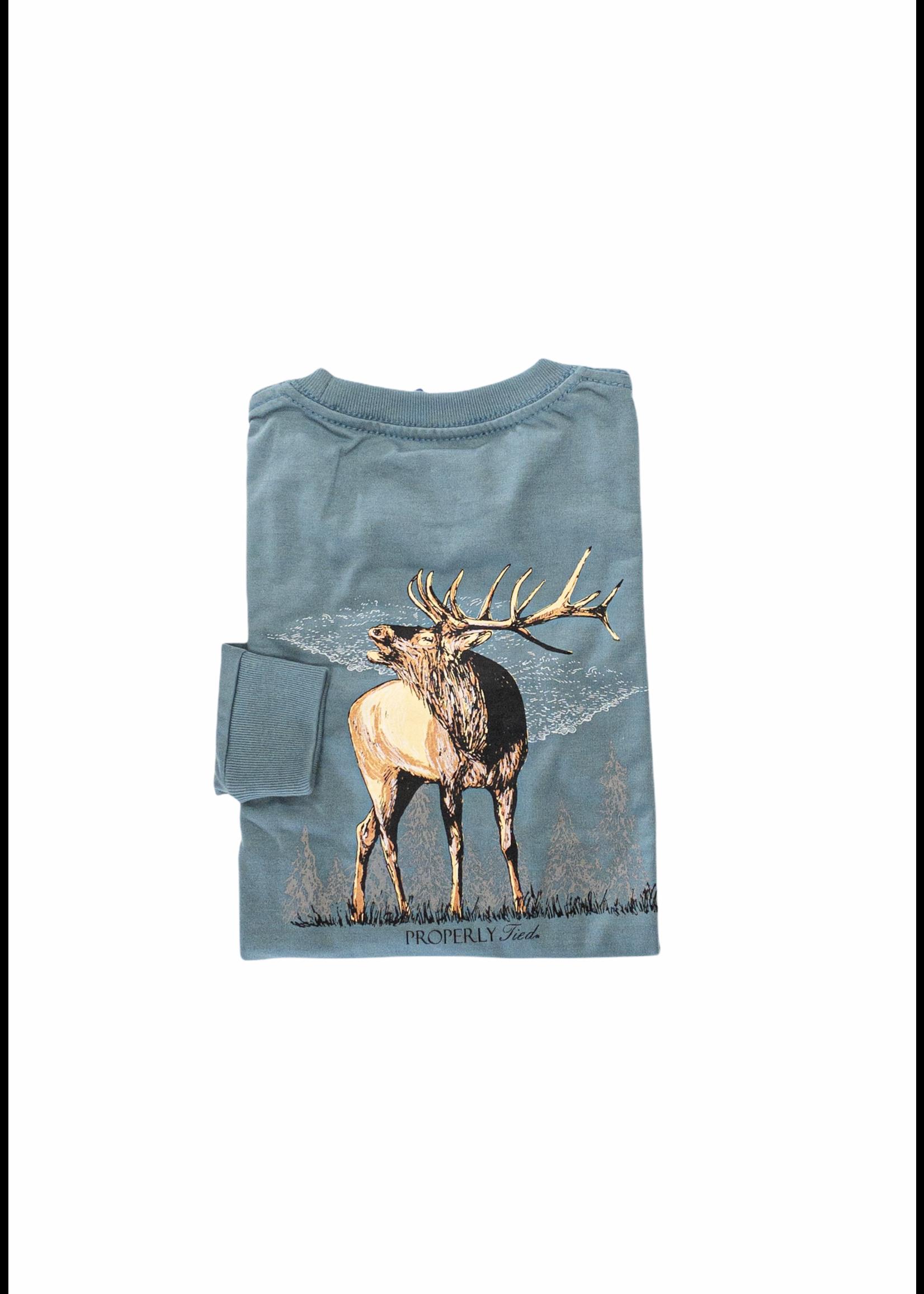 Properly Tied Elk Long Sleeve Shirt