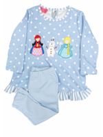 Claire and Charlie Ice Princess LT Blue w/White Dots Blouse W/ Leggings