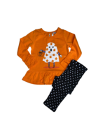 Tangerine Sky Ghost Print Tunic w/ Black Legging