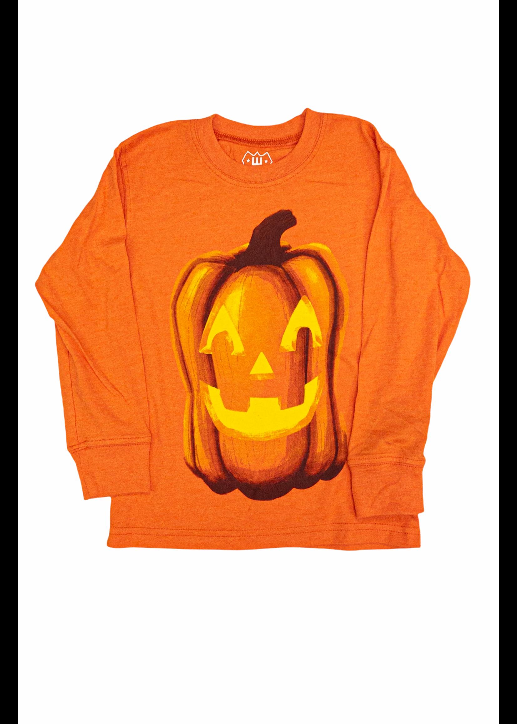Wes and Willy Jack O' Lantern Orange shirt