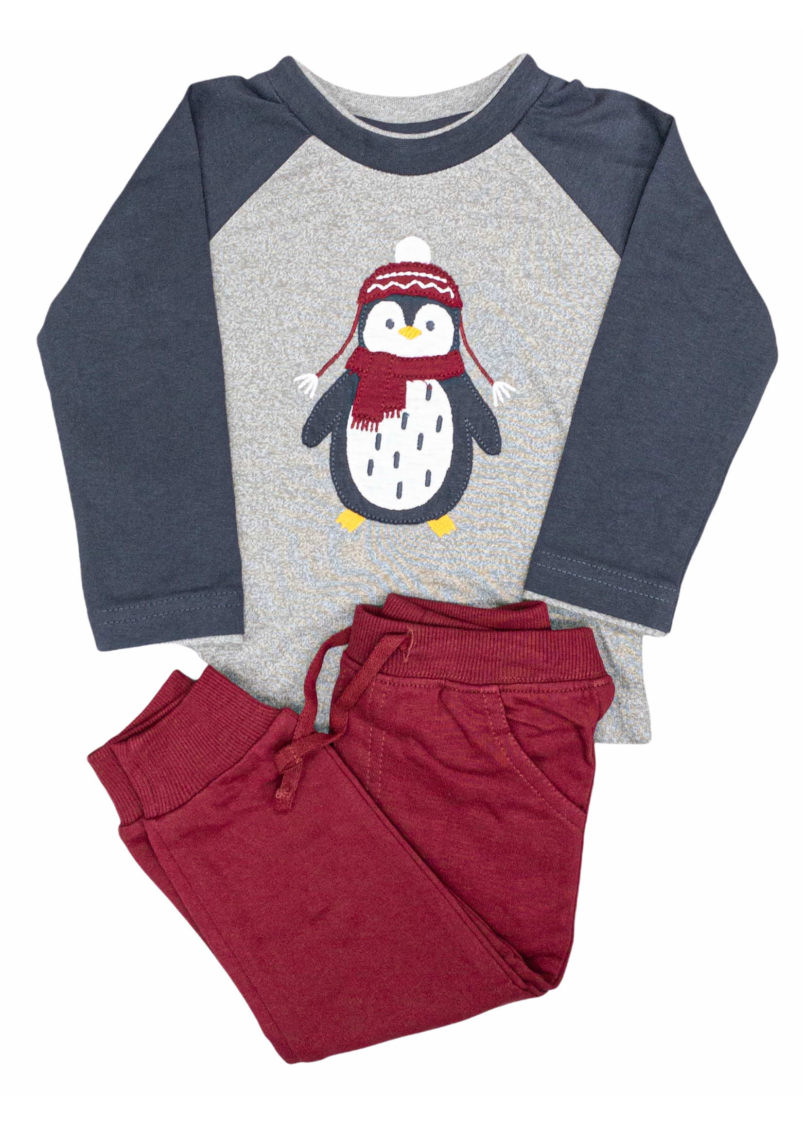 Minibama Applique Penguin Top Set