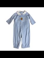 Petit Bebe Turkey Boy Long Bubble Lt Blue Stripe Knit