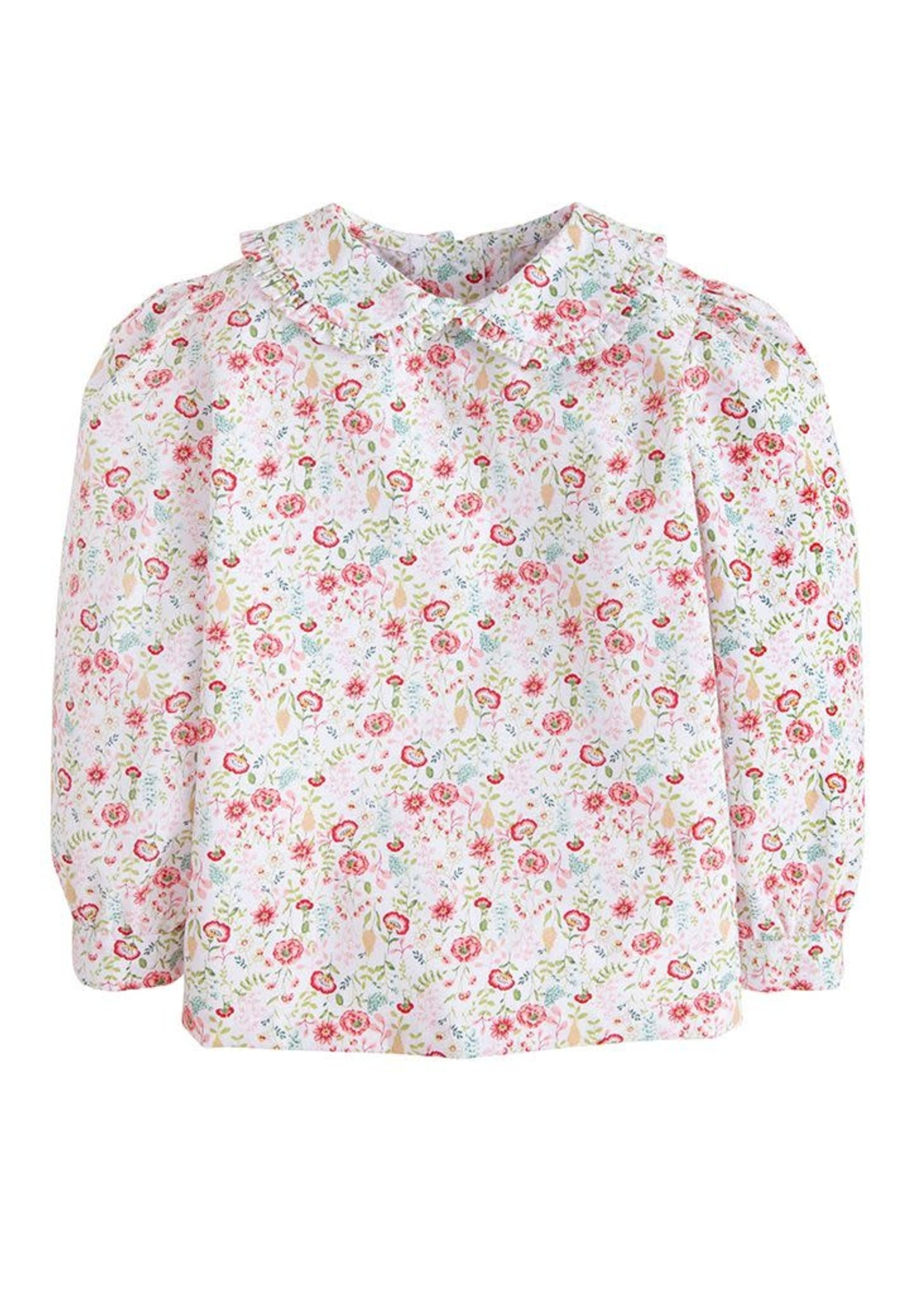 Little English Ruffled Peter Pan Blouse - Midway Floral
