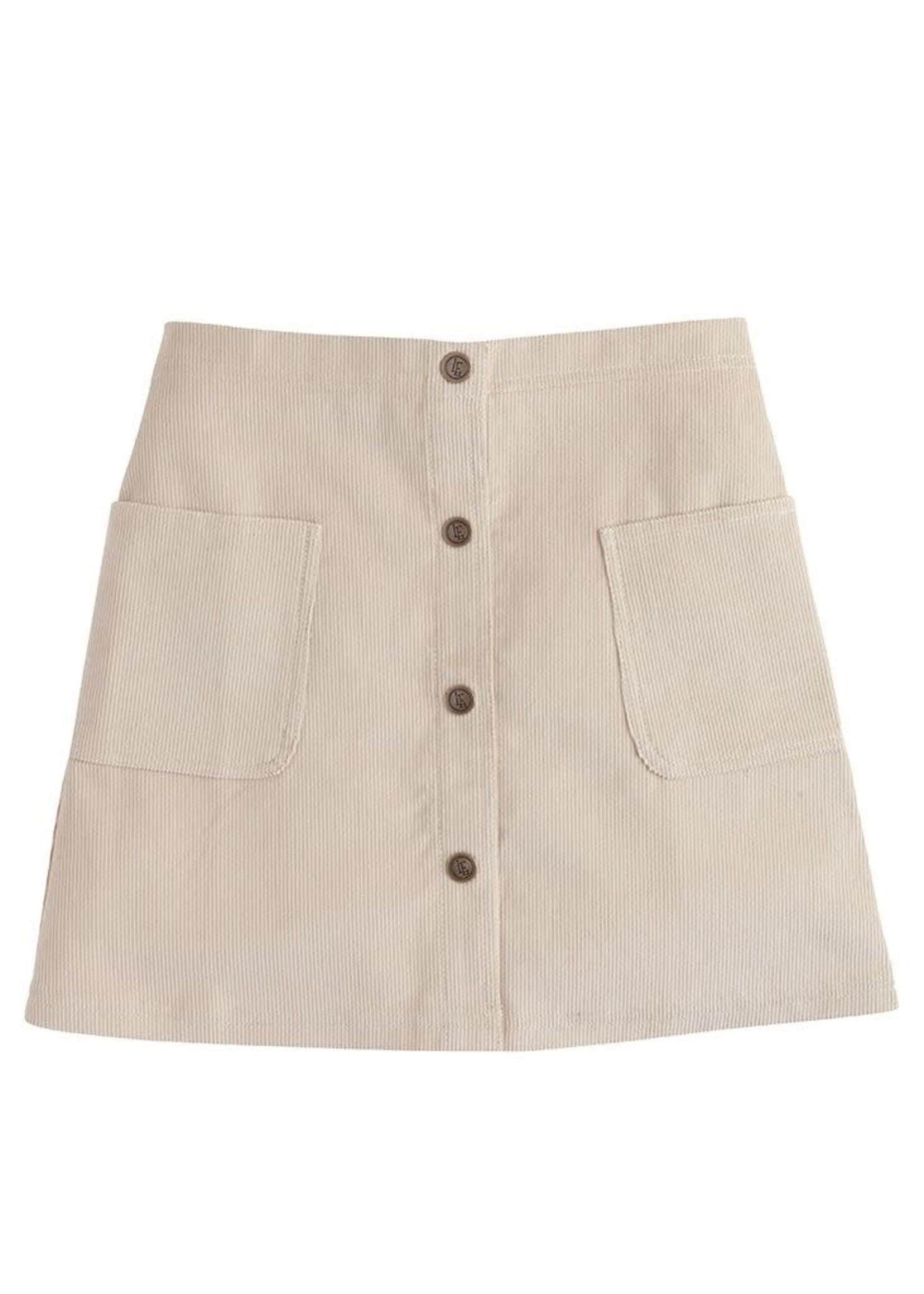 Little English Emily Pocket Skirt - Khaki Corduoy