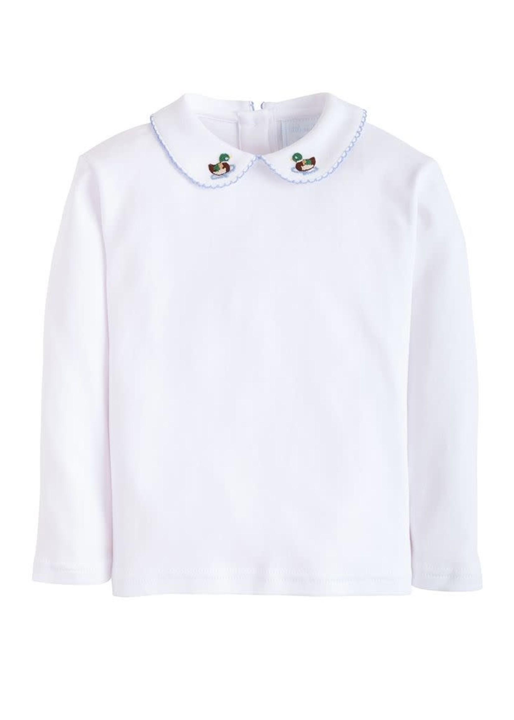 Little English Long Sleeve Pinpoint Shirt - Mallard