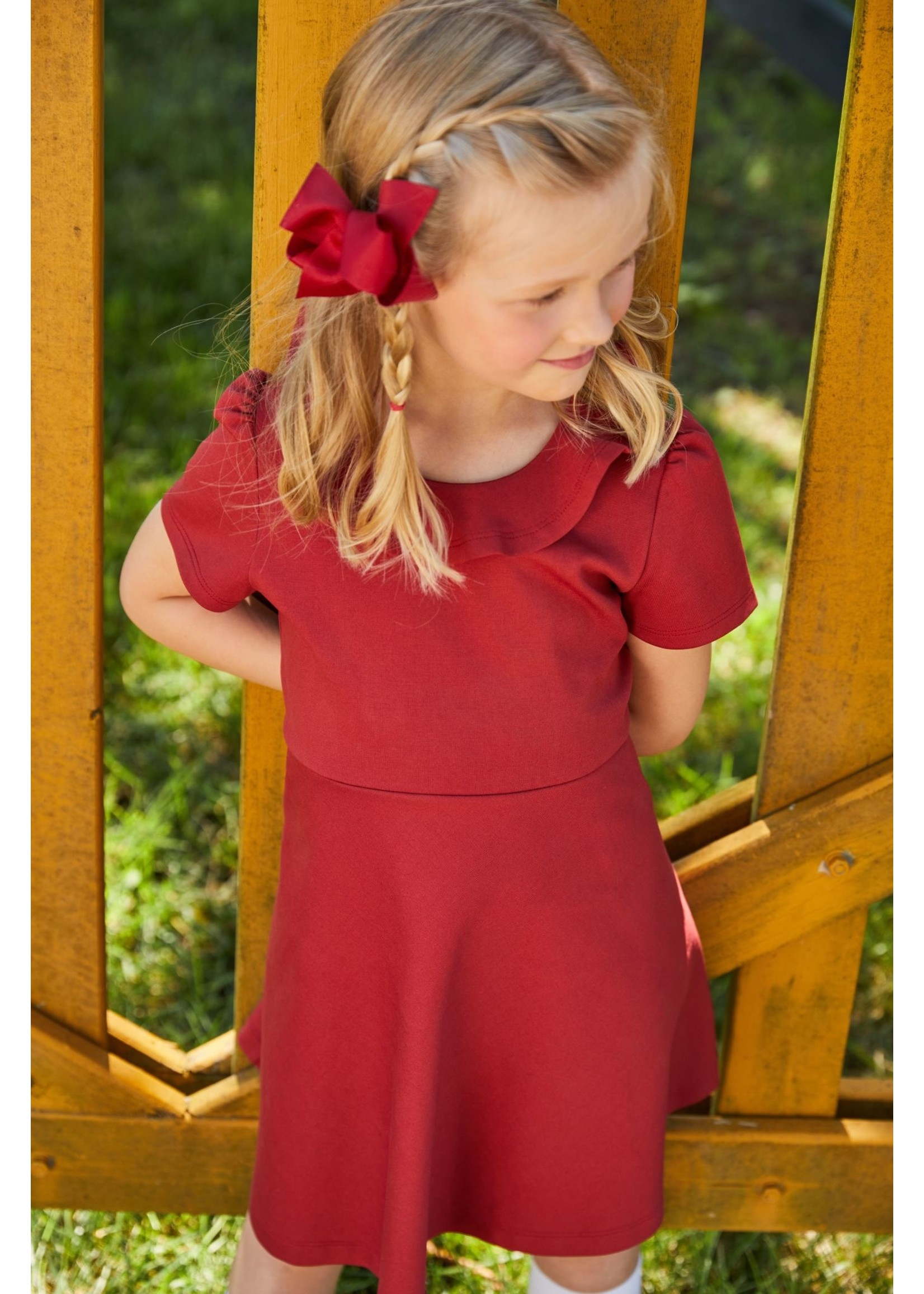 Little English Joy Dress - Crimson