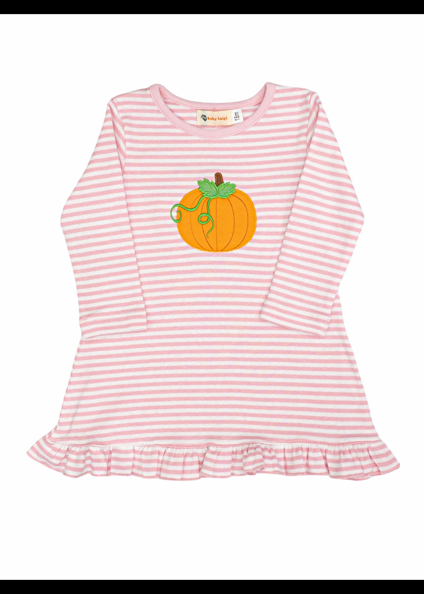Luigi Luigi Girl Pumpkin Pink Aline Dress