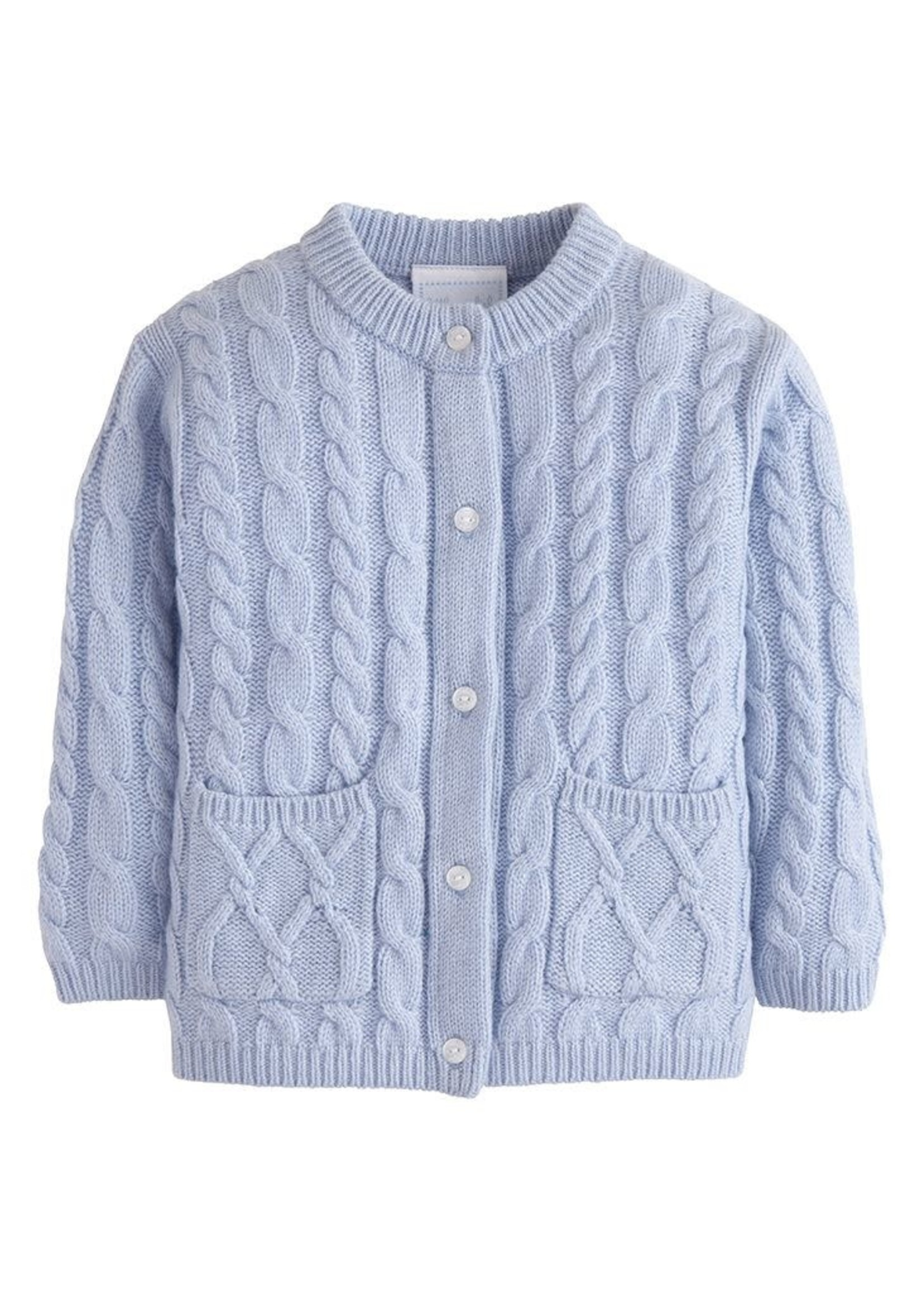 Little English Light Blue Cashmere Cardigan