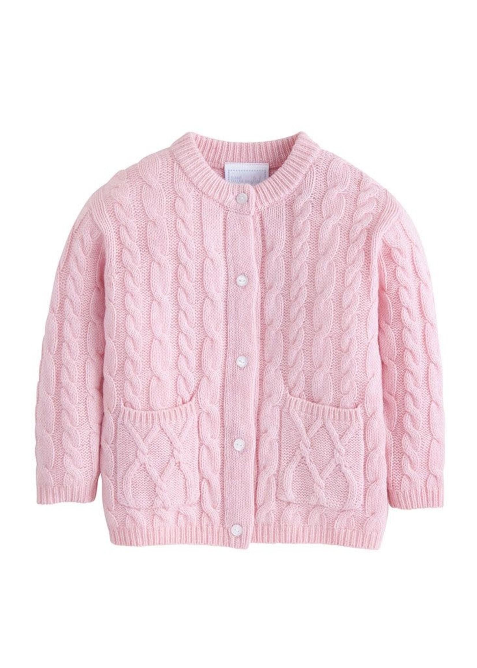 Little English Light Pink Cashmere Cardigan