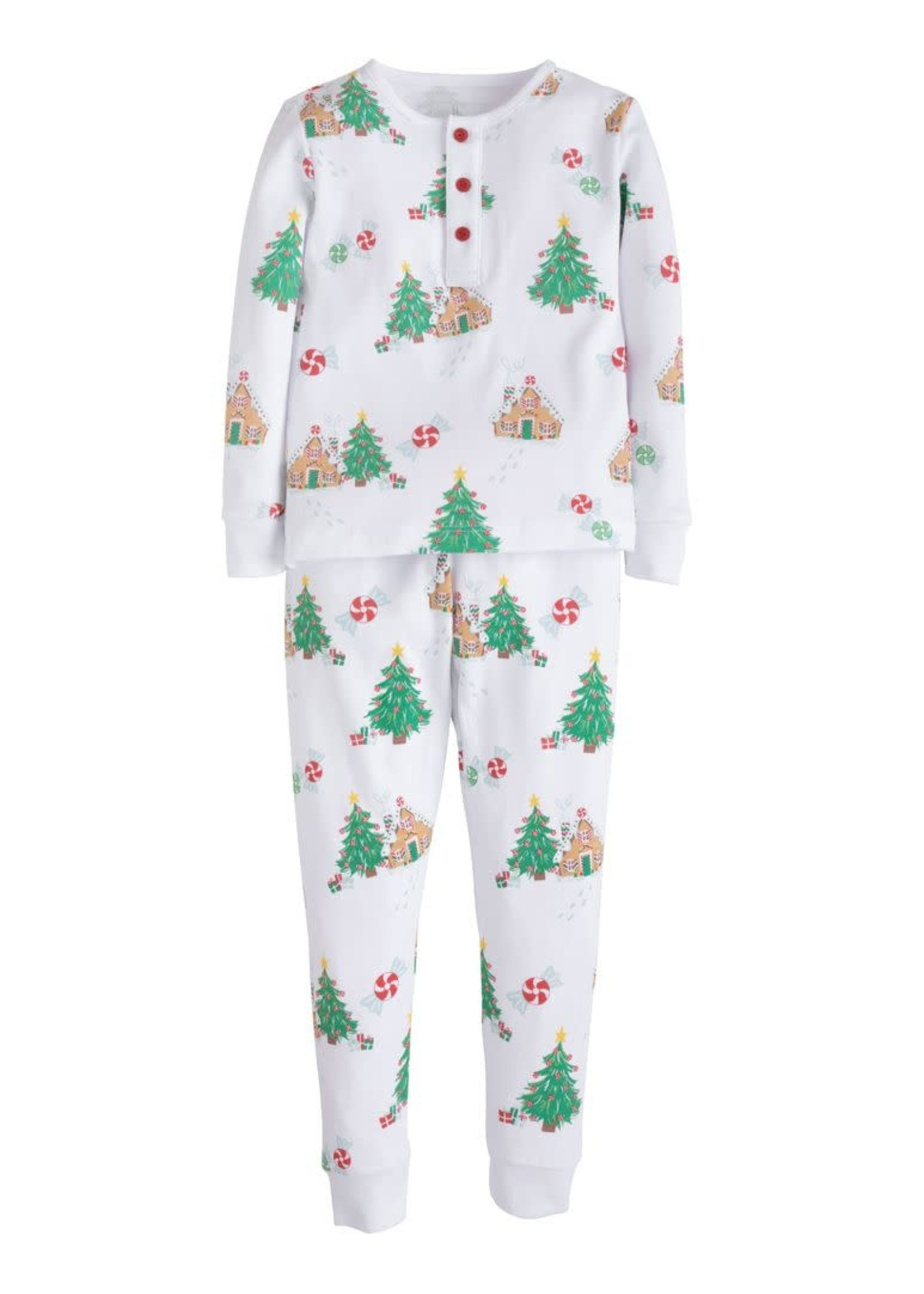 Little English Printed Jammies - Gingerbread