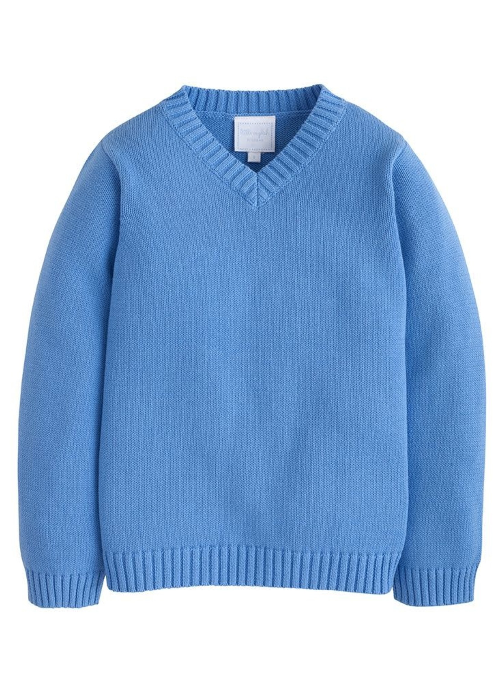Little English V-Neck Sweater - Airy Blue