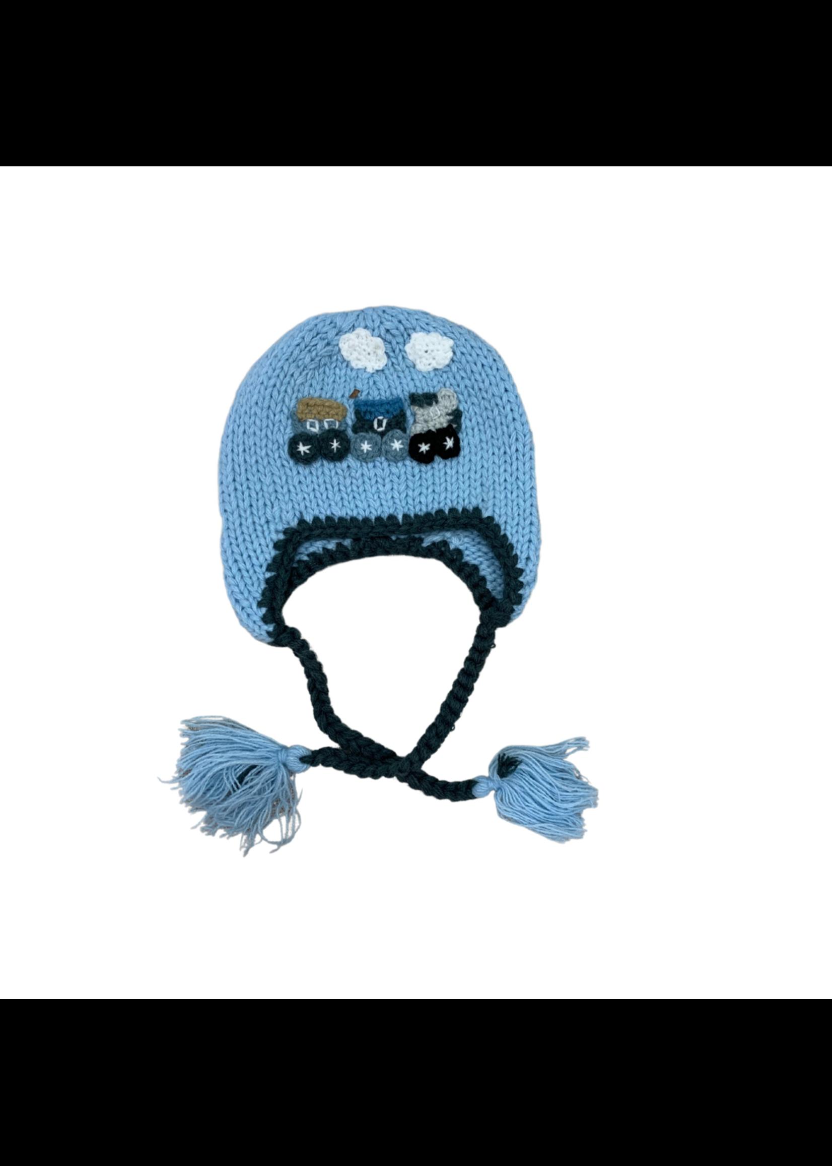 Huggalugs Blue Train Hat