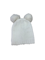 Huggalugs White Chenille Pom Pom Hat