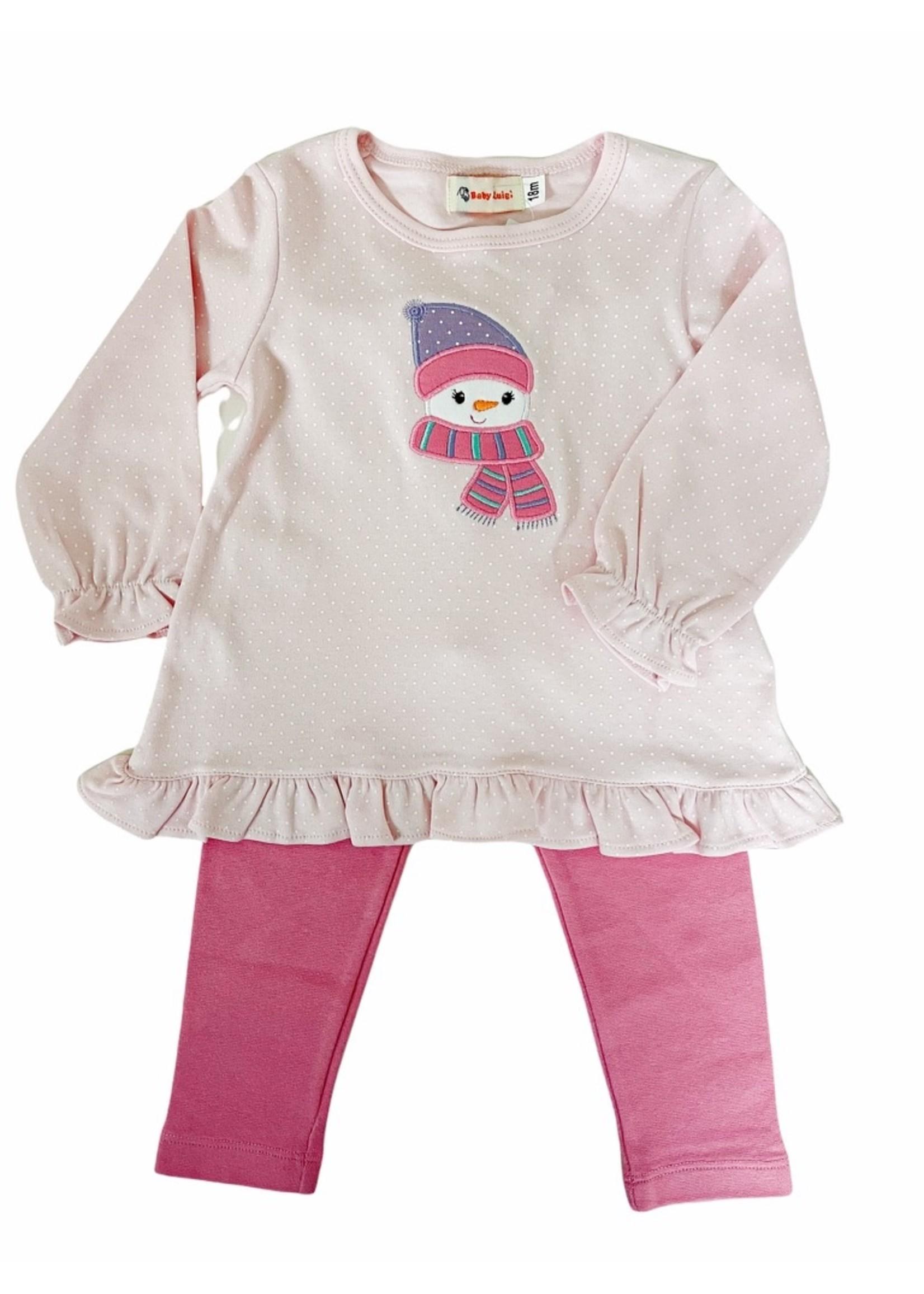 Luigi Swing Top Snowman Pink
