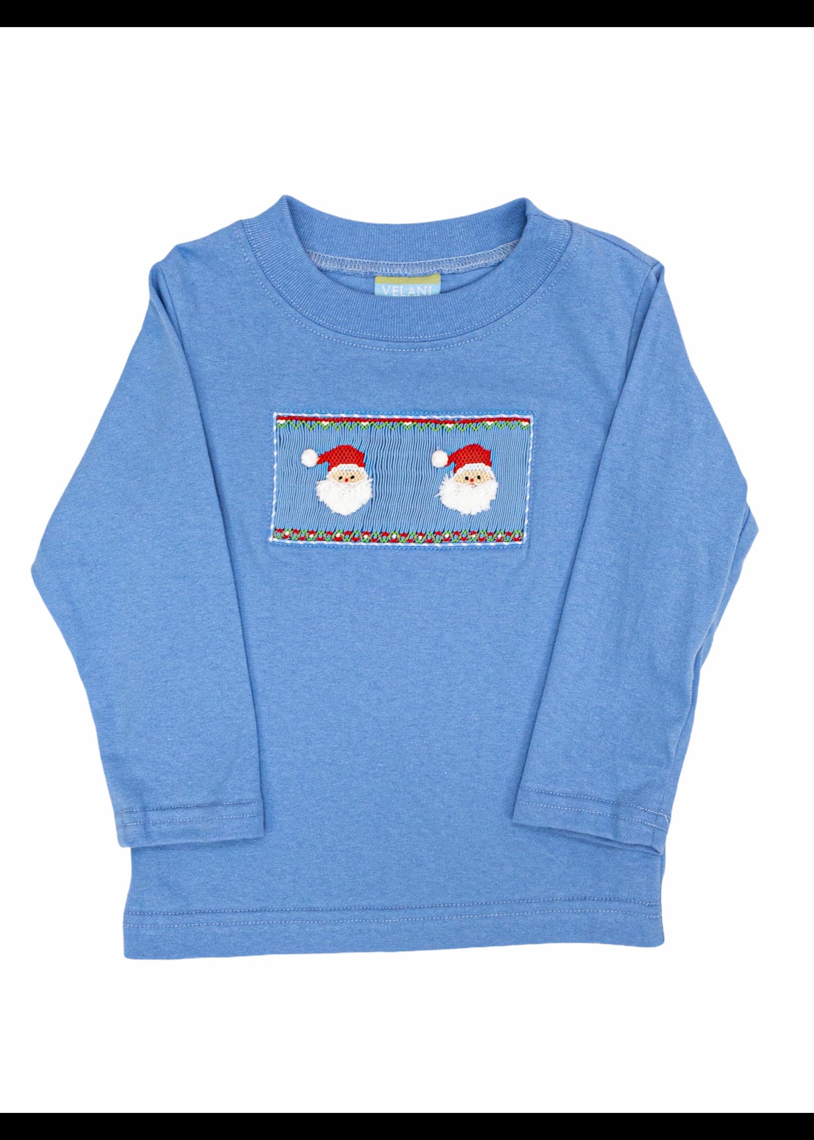 Anavini Santa Face Blue Shirt