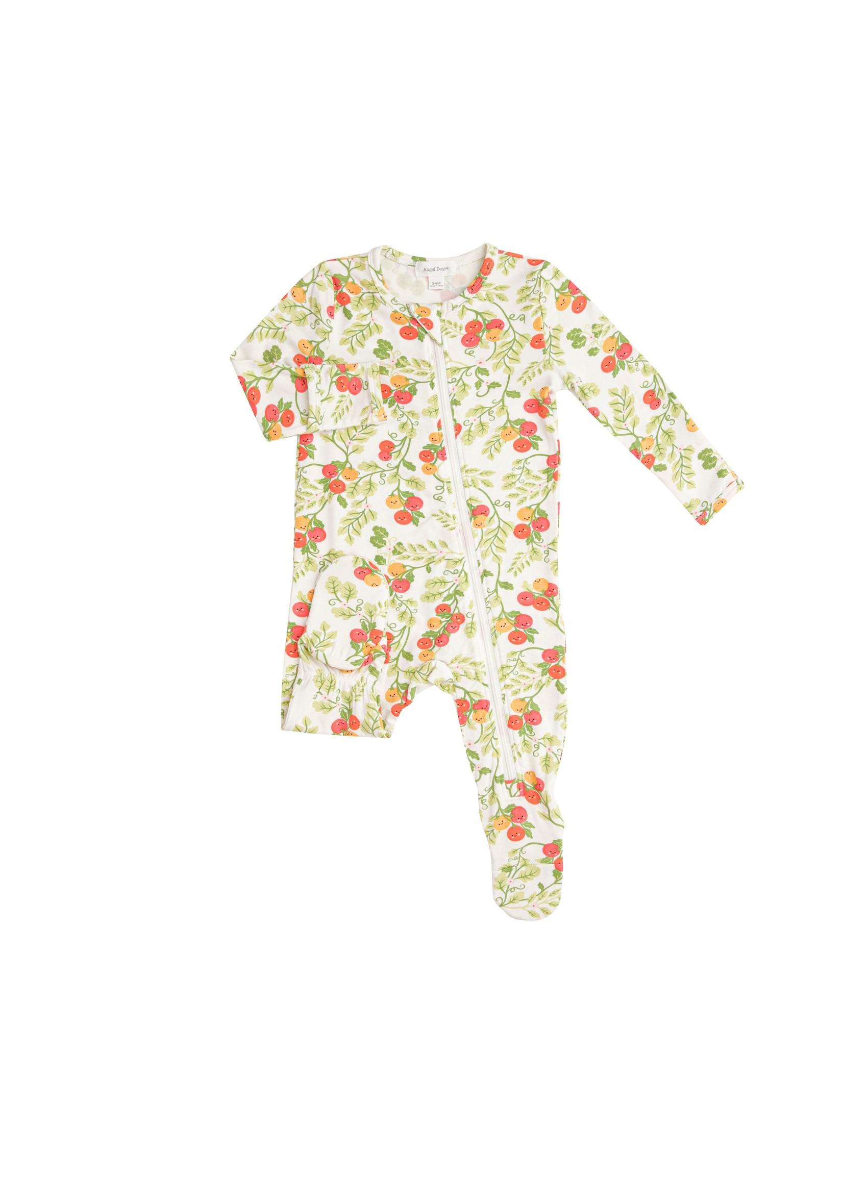 Angel Dear Baby Tomatoes Zipper Footie Green