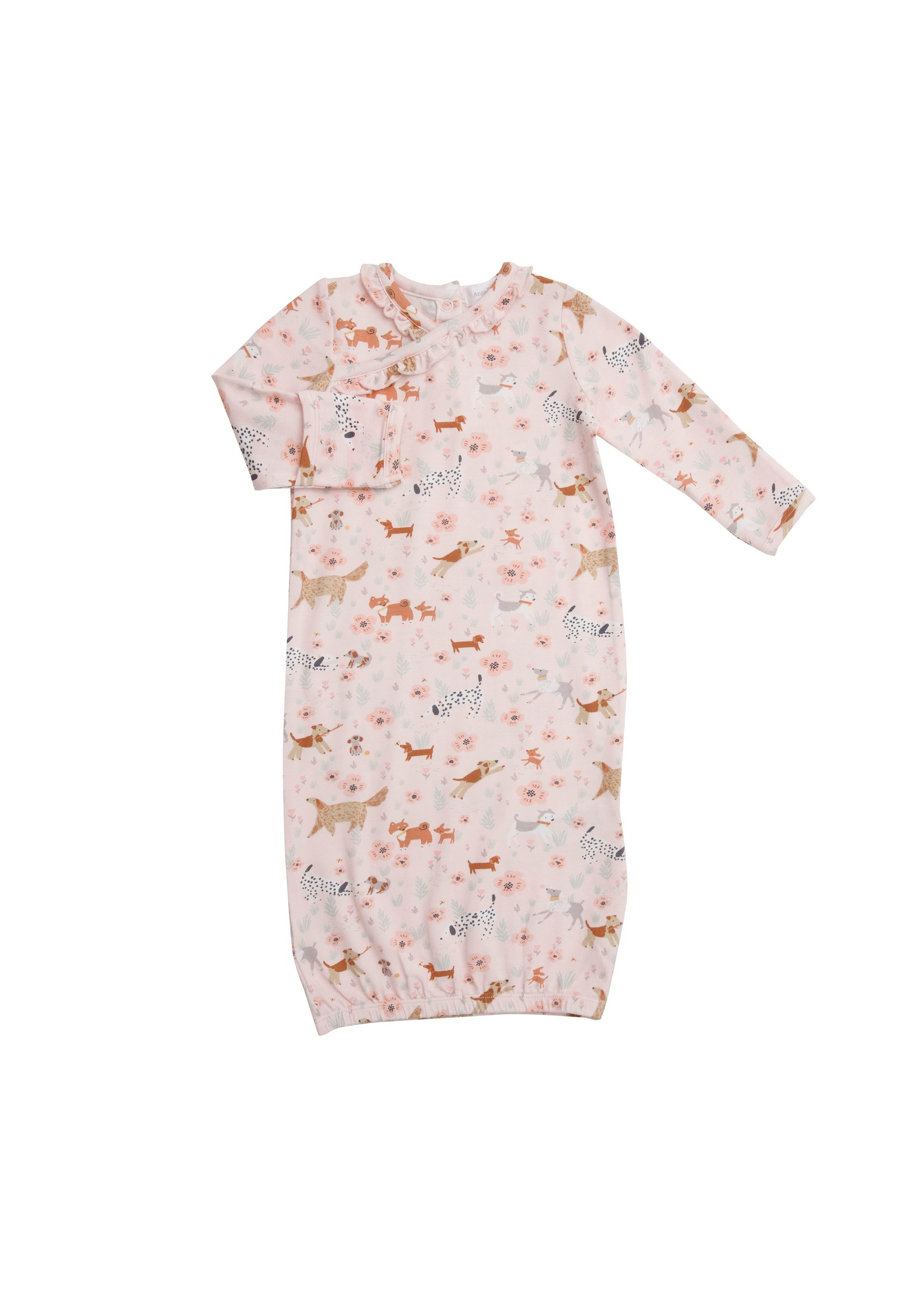 Angel Dear Floral Pups Kimono Gown Pink