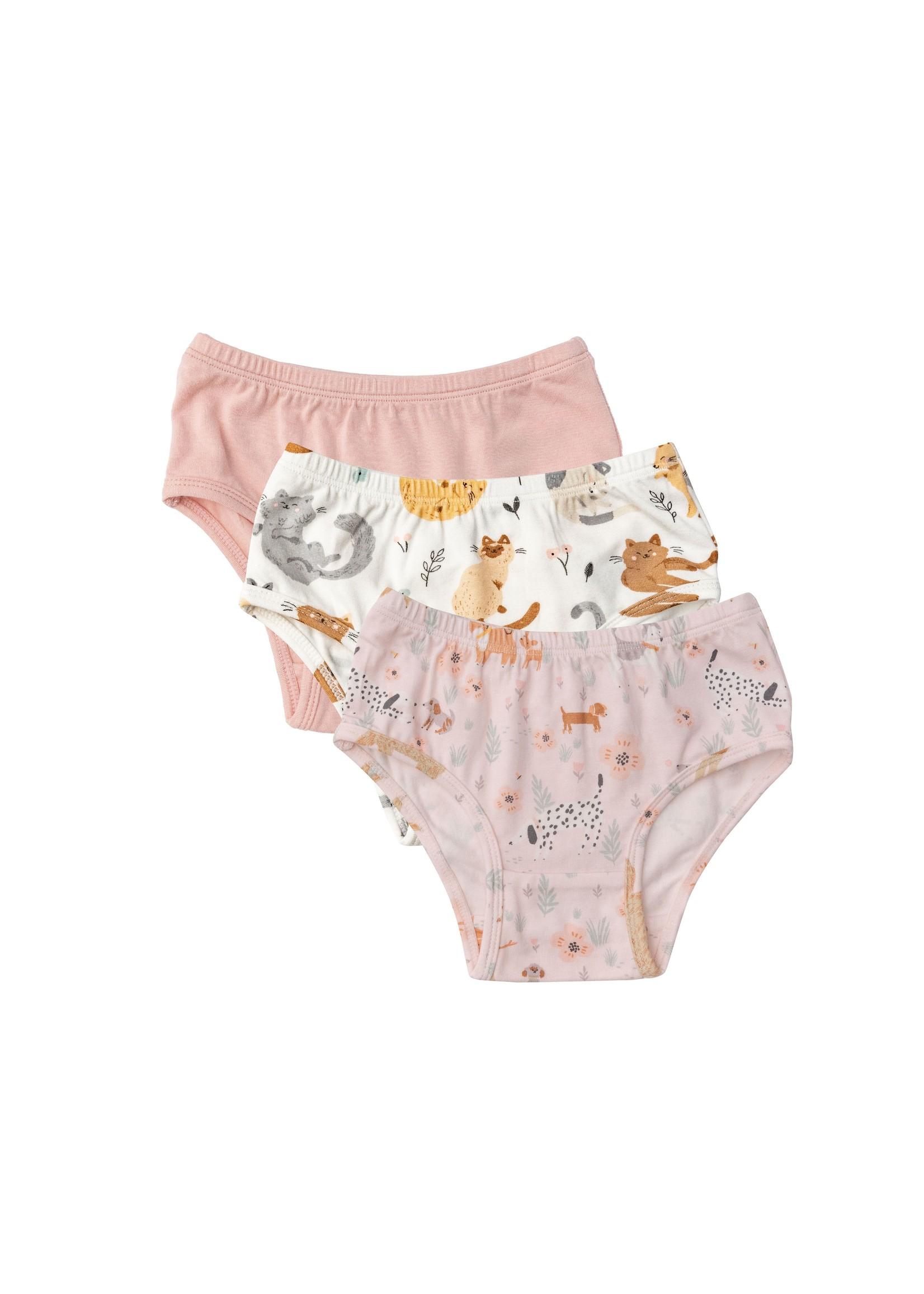 Angel Dear 3 Pack Panty  Set Kitties/Puppies