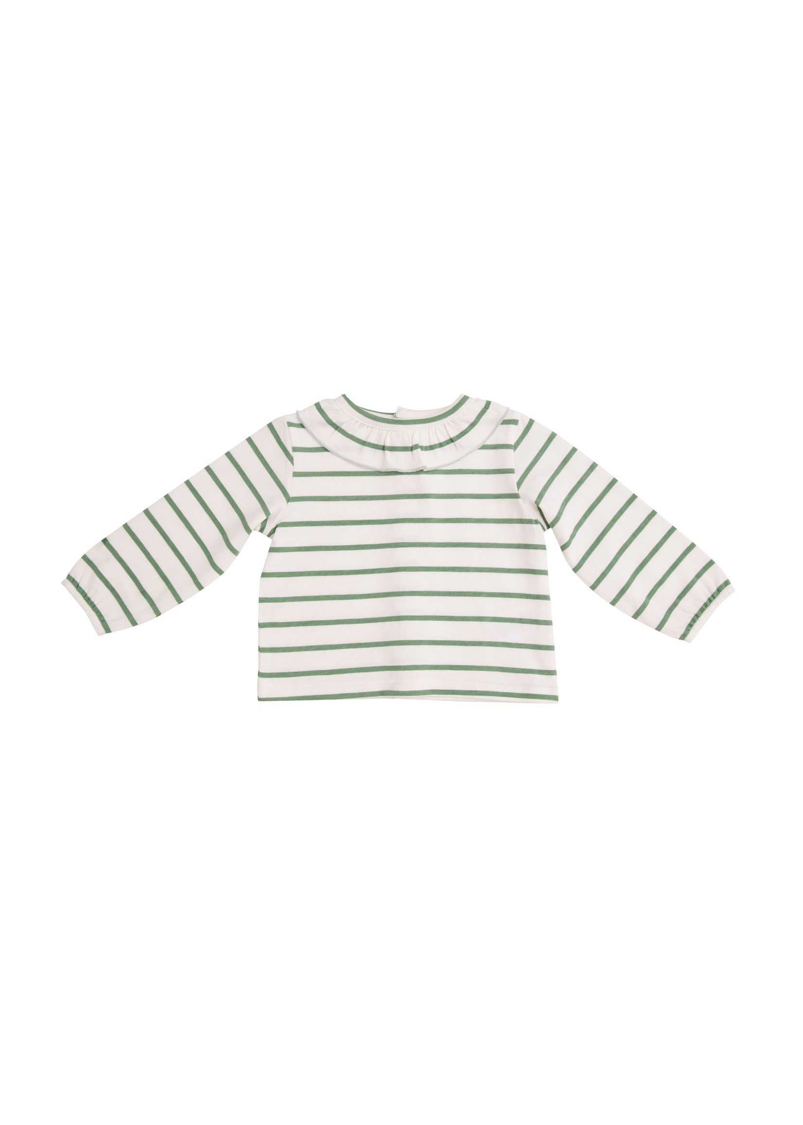 Angel Dear Green Stripe Organic Blouse Green